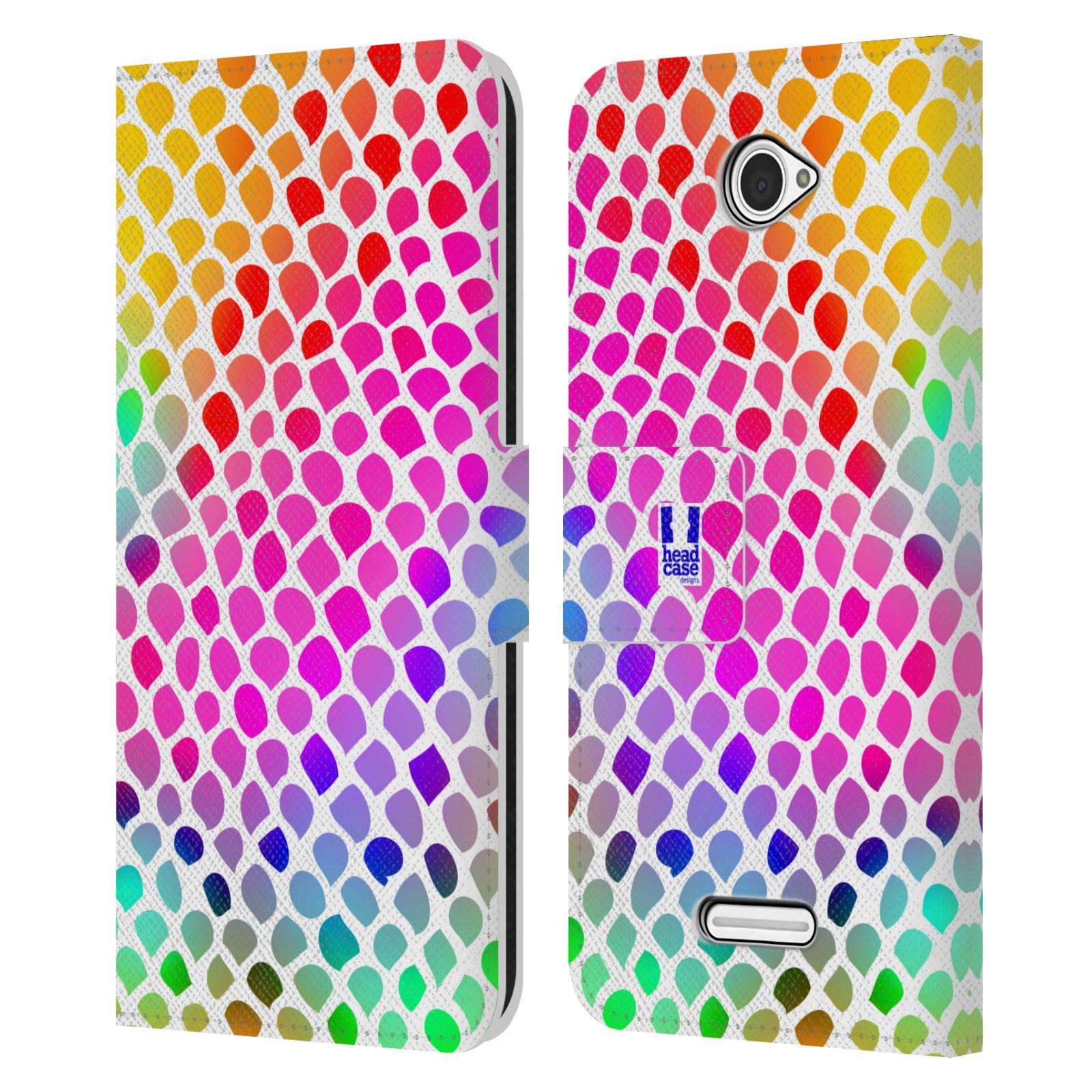 HEAD CASE Flipové pouzdro pro mobil SONY XPERIA E4 Zvířecí barevné vzory duhový had