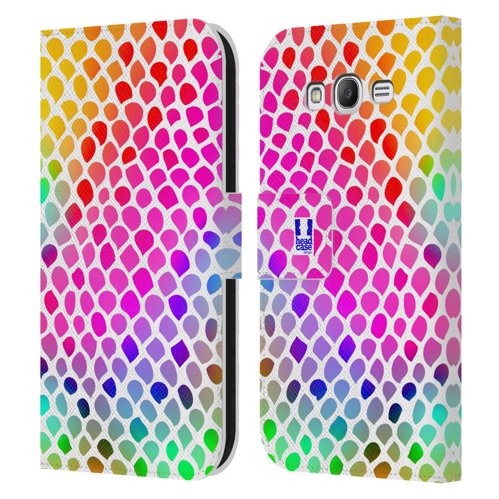 HEAD CASE Flipové pouzdro pro mobil Samsung Galaxy Grand i9080 Zvířecí barevné vzory duhový had