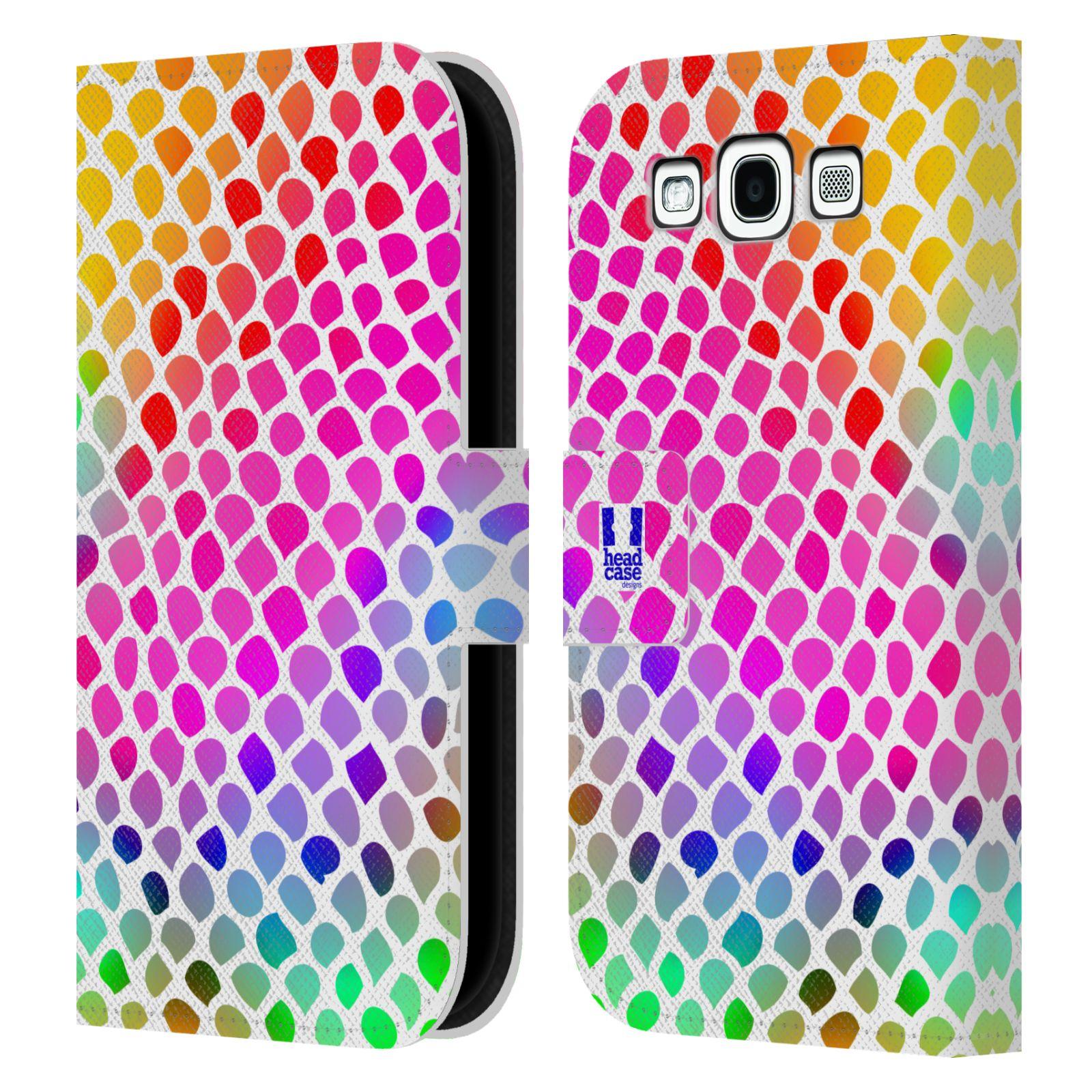 HEAD CASE Flipové pouzdro pro mobil Samsung Galaxy S3 Zvířecí barevné vzory duhový had