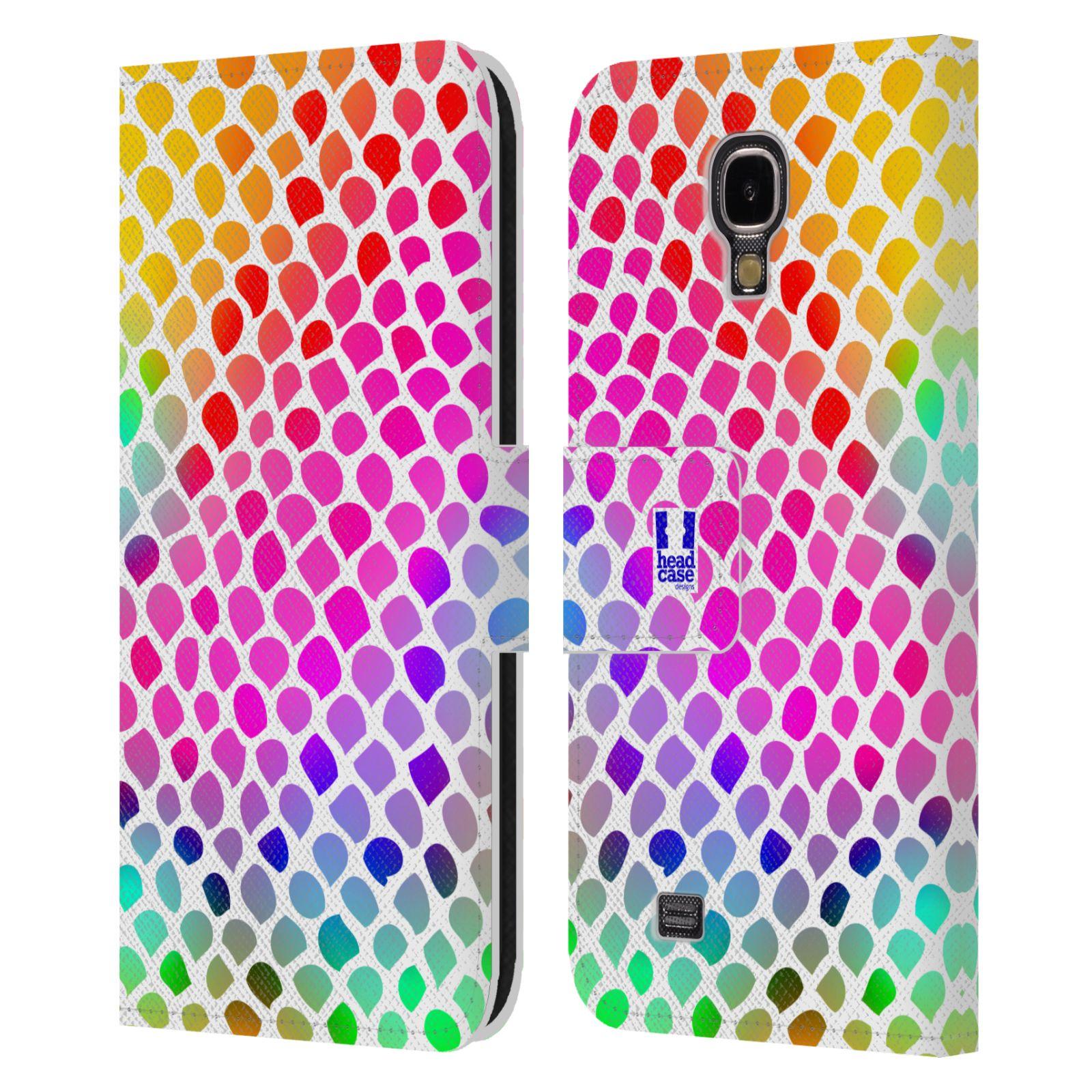 HEAD CASE Flipové pouzdro pro mobil Samsung Galaxy S4 Zvířecí barevné vzory duhový had