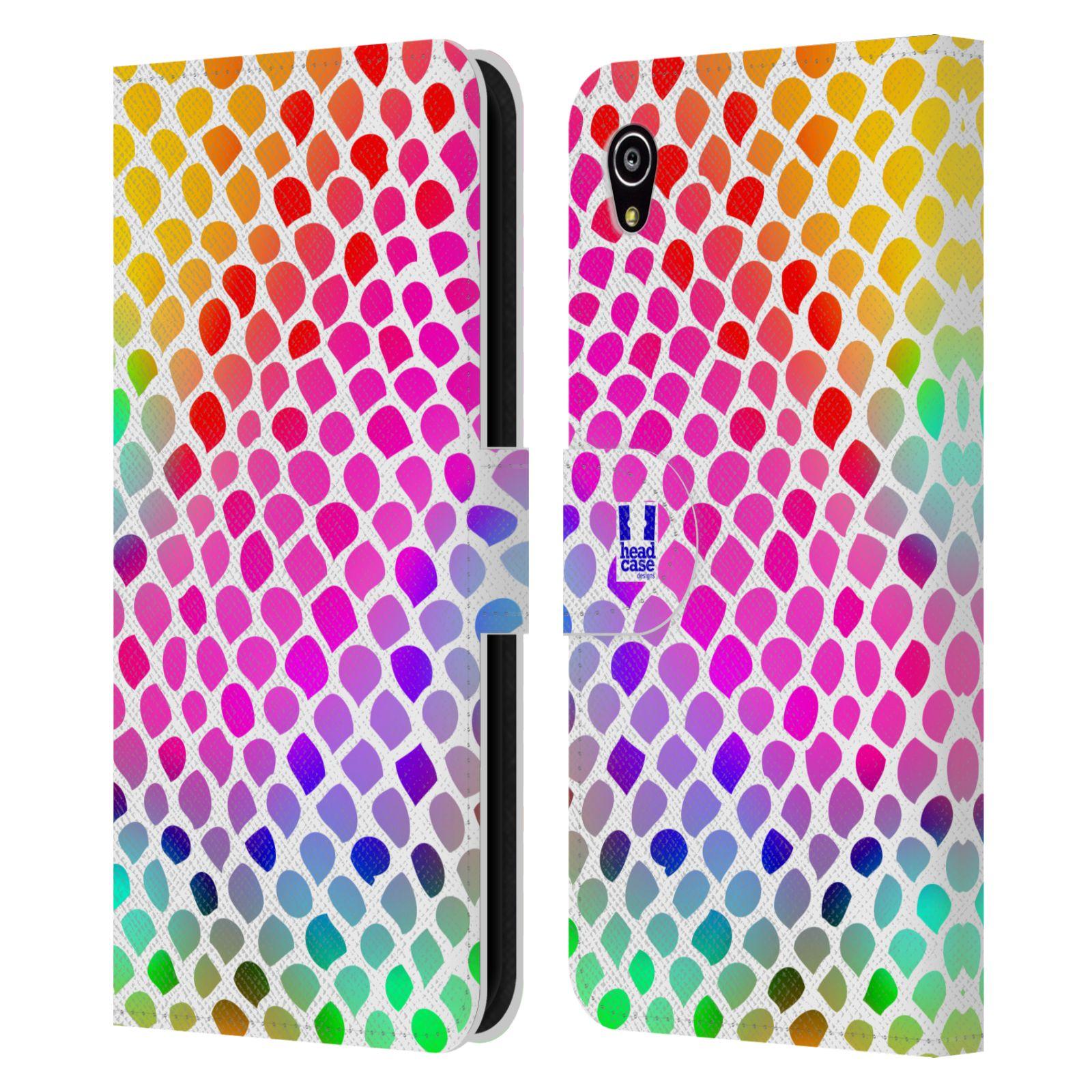 HEAD CASE Flipové pouzdro pro mobil SONY XPERIA M4 AQUA Zvířecí barevné vzory duhový had