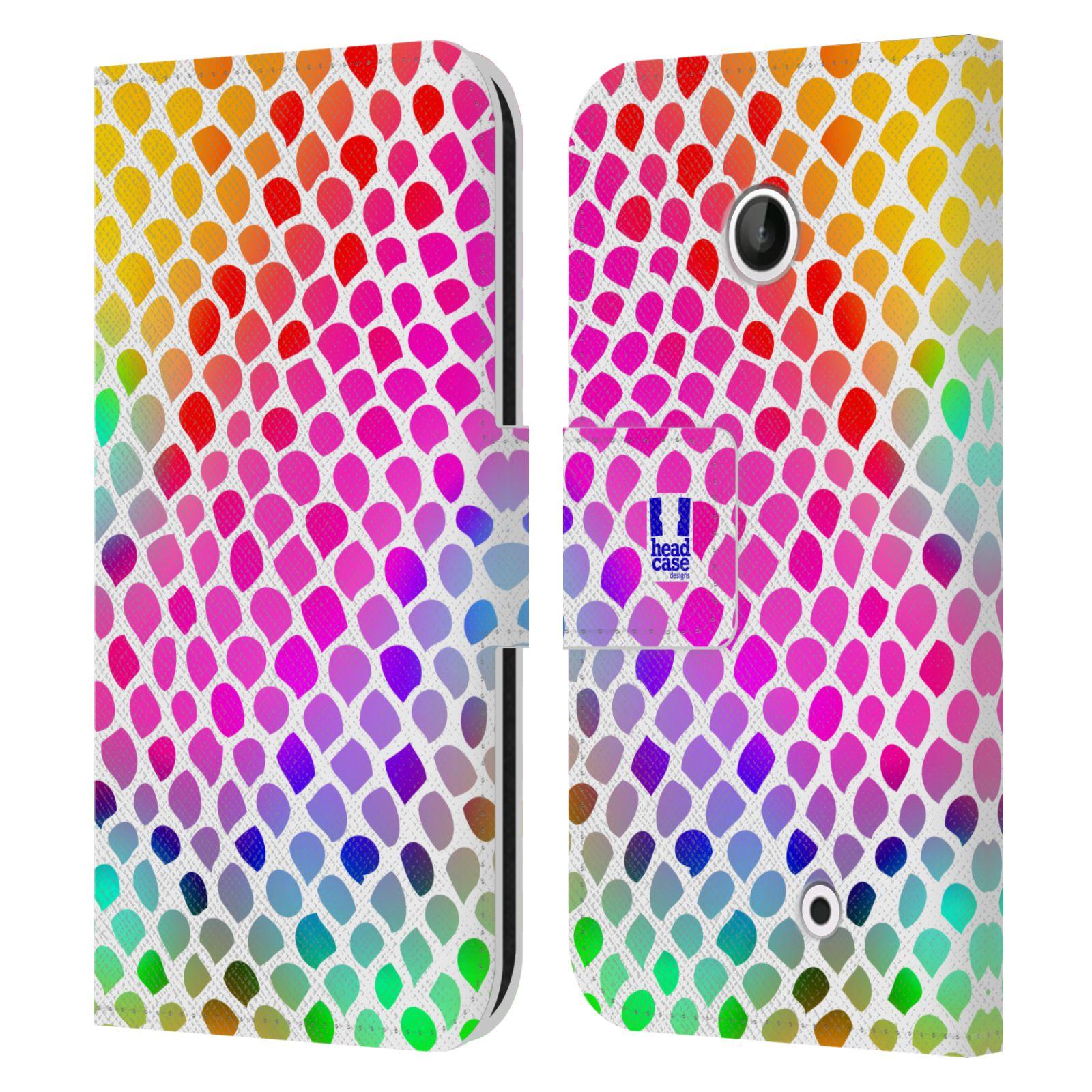 HEAD CASE Flipové pouzdro pro mobil NOKIA LUMIA 630 / LUMIA 630 DUAL Zvířecí barevné vzory duhový had