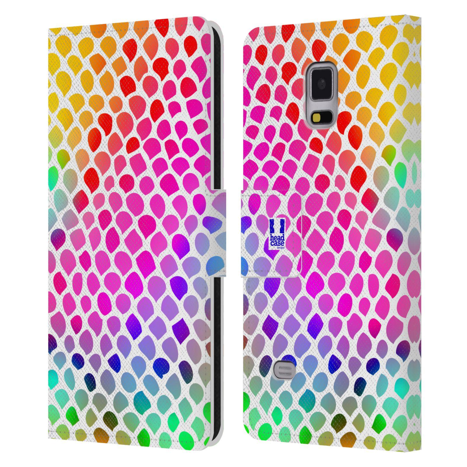 HEAD CASE Flipové pouzdro pro mobil Samsung Galaxy Note 4 Zvířecí barevné vzory duhový had
