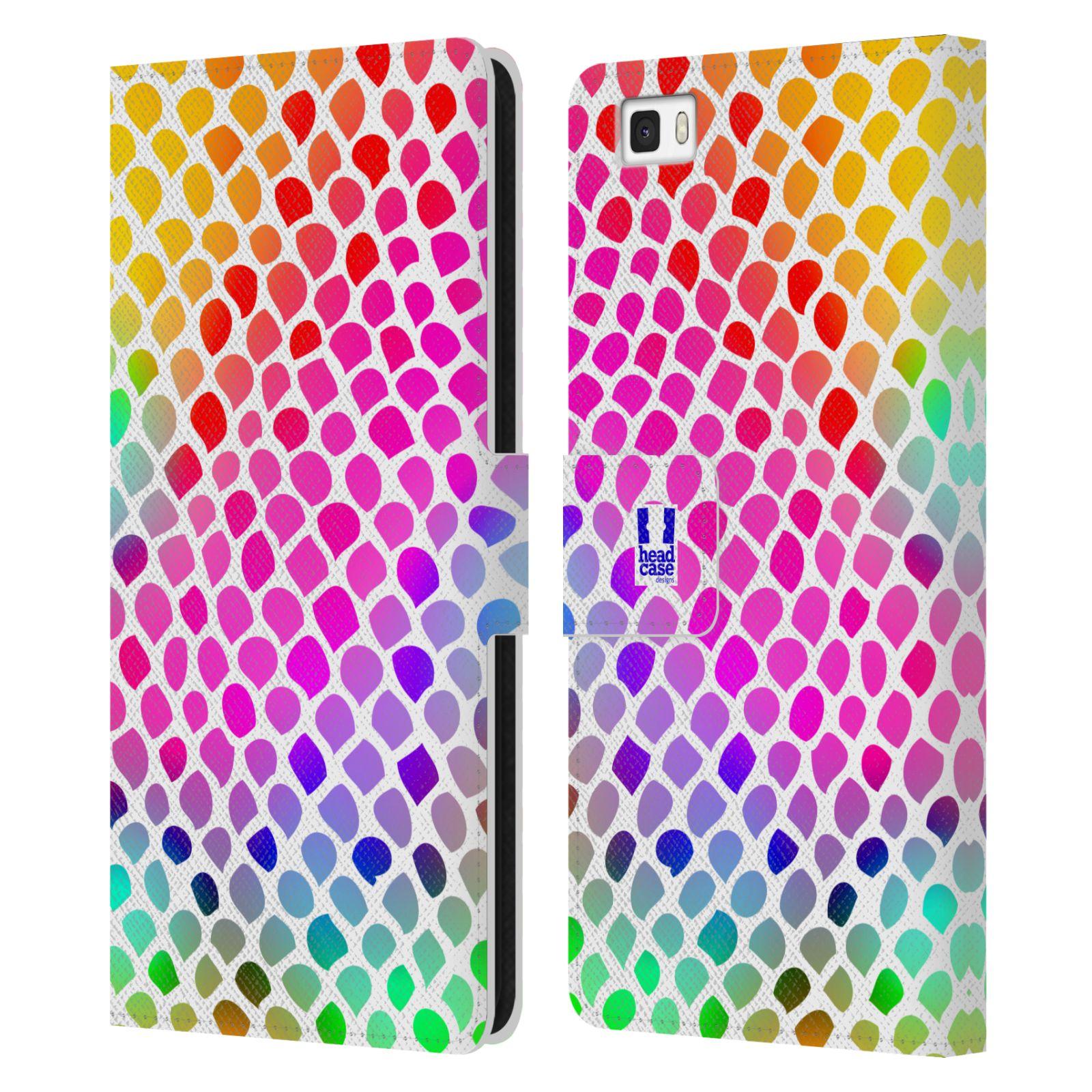 HEAD CASE Flipové pouzdro pro mobil Huawei P8 LITE Zvířecí barevné vzory duhový had
