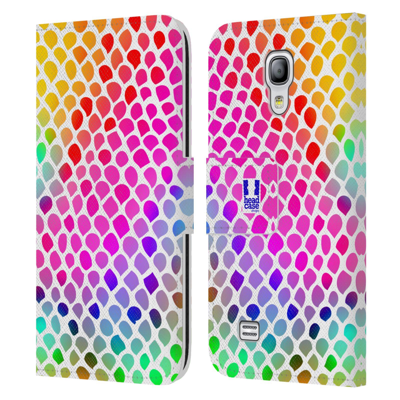 HEAD CASE Flipové pouzdro pro mobil Samsung Galaxy S4 MINI / S4 MINI DUOS Zvířecí barevné vzory duhový had