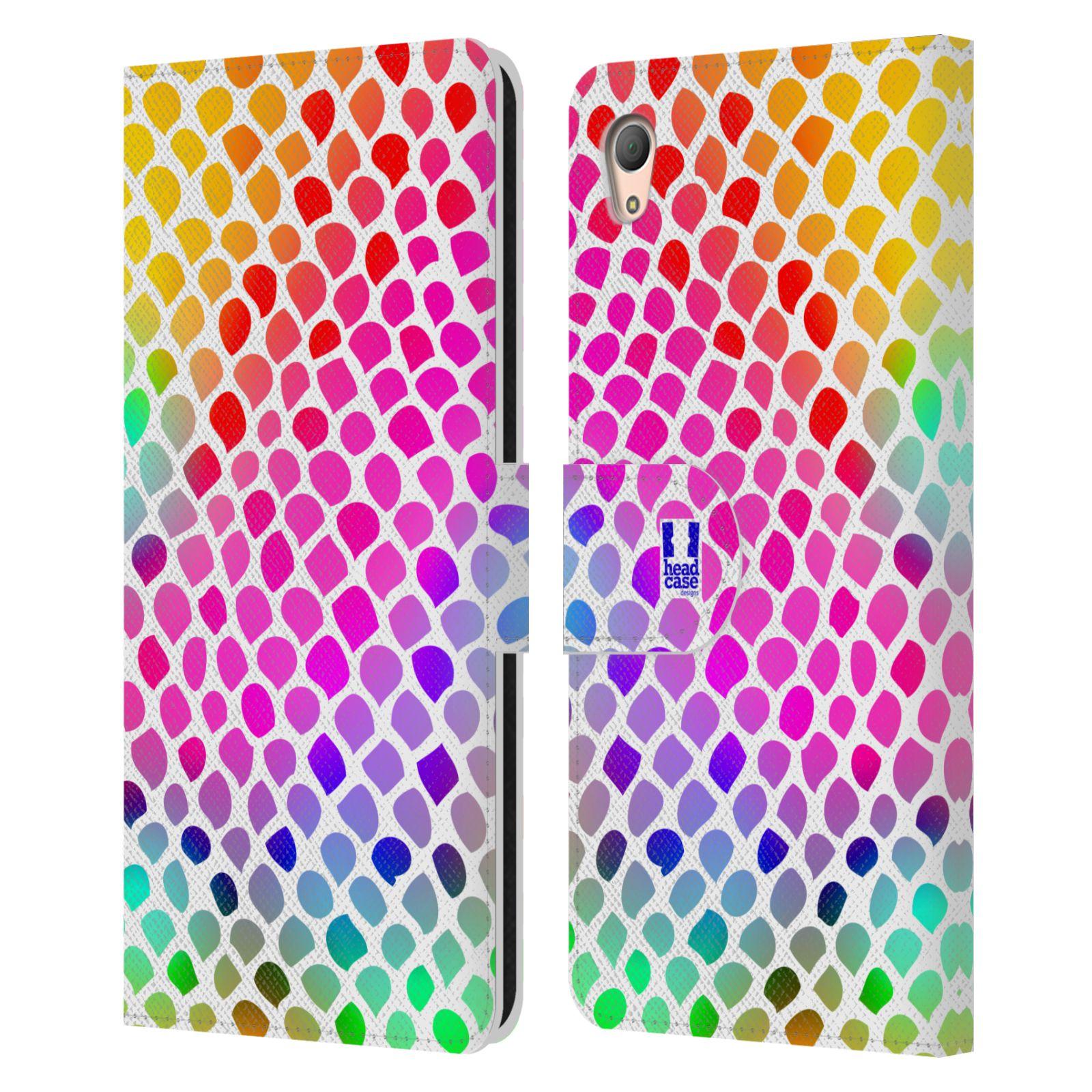 HEAD CASE Flipové pouzdro pro mobil SONY XPERIA Z3+ (PLUS) Zvířecí barevné vzory duhový had