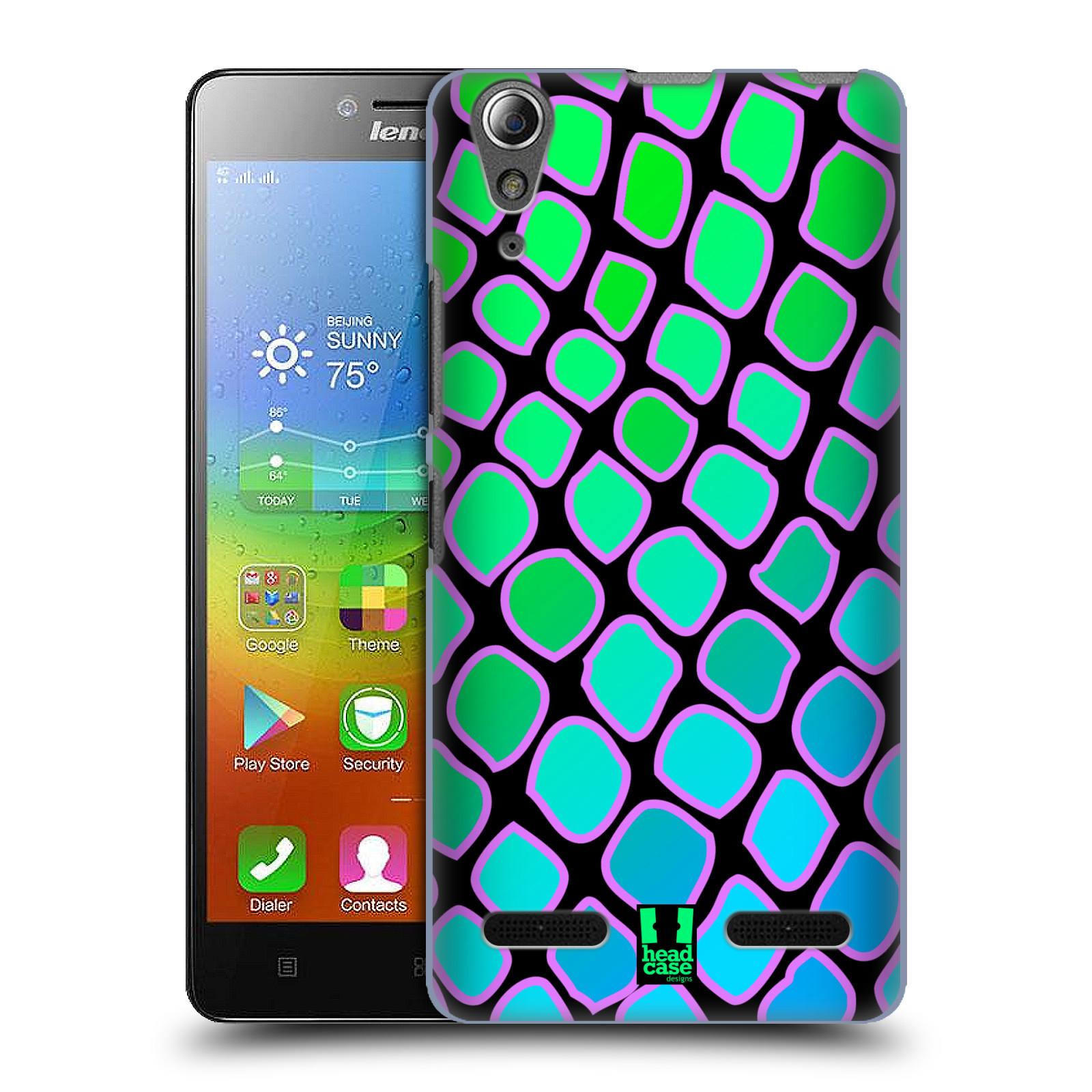 HEAD CASE pevný plastový obal na mobil LENOVO A6000 / A6000 PLUS vzor Divočina zvíře  modrý had