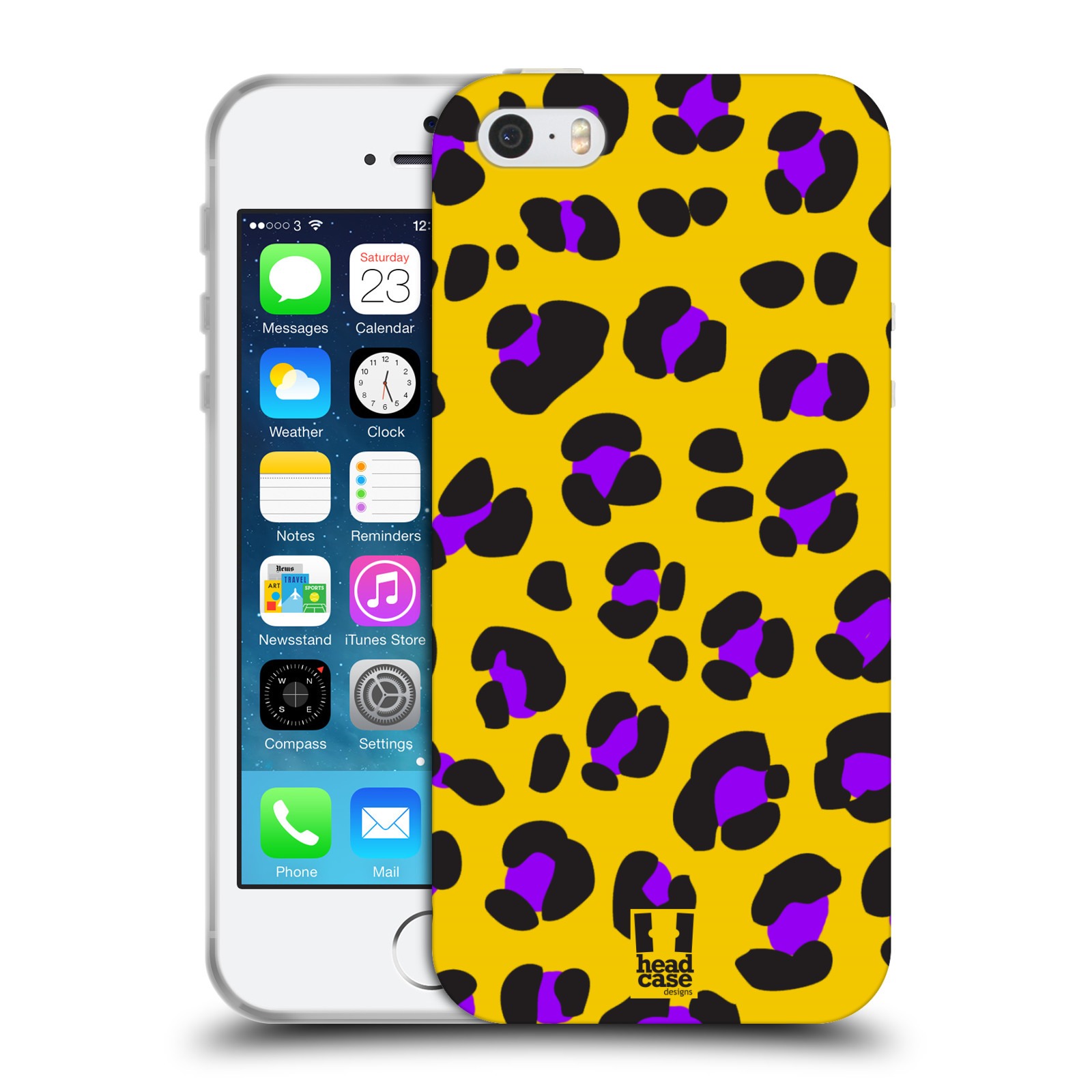 HEAD CASE MAD PRINTS SERIES 1 TPU GEL BACK CASE COVER FOR APPLE iPHONE 5S
