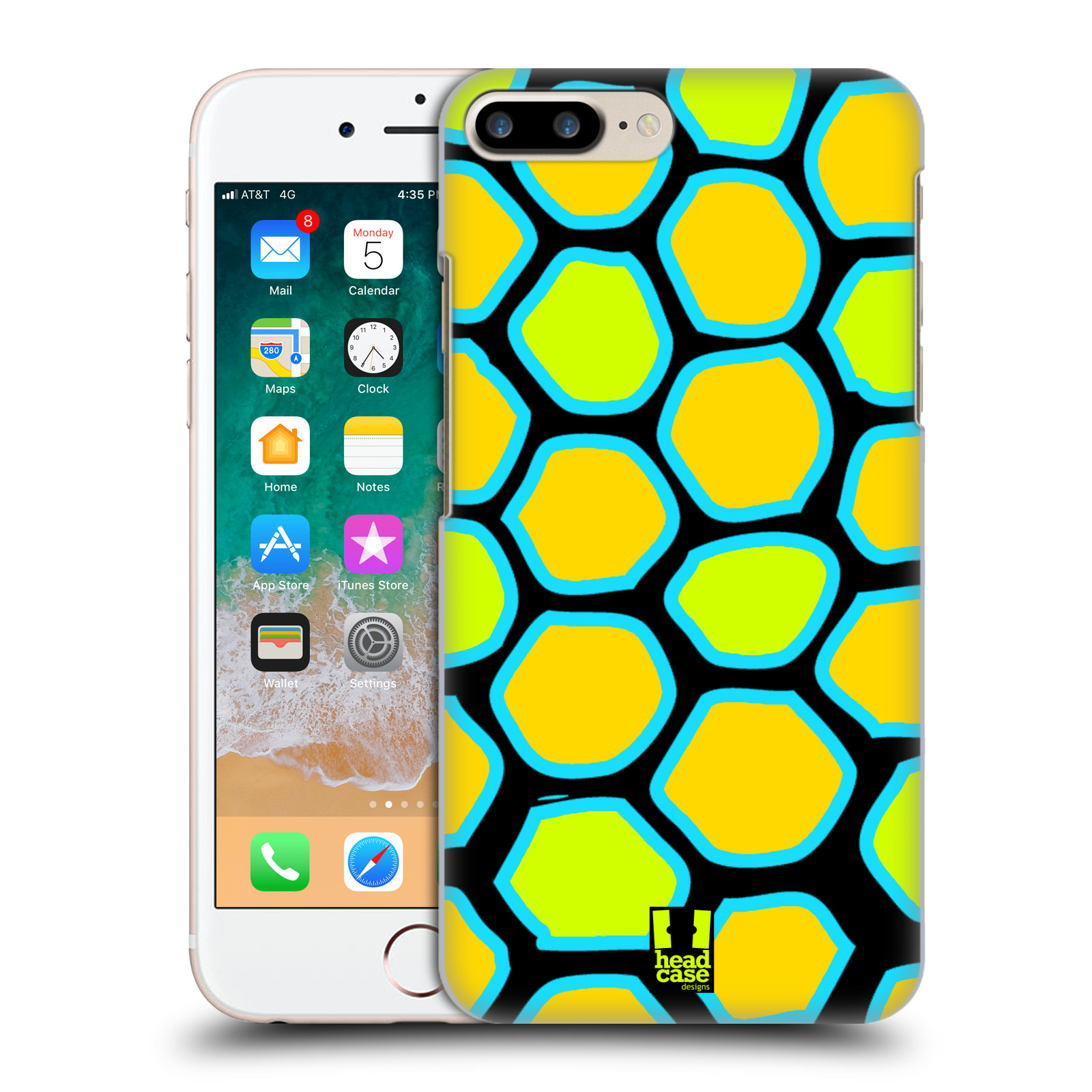 HEAD CASE plastový obal na mobil Apple Iphone 7 PLUS vzor Divočina zvíře žlutý had