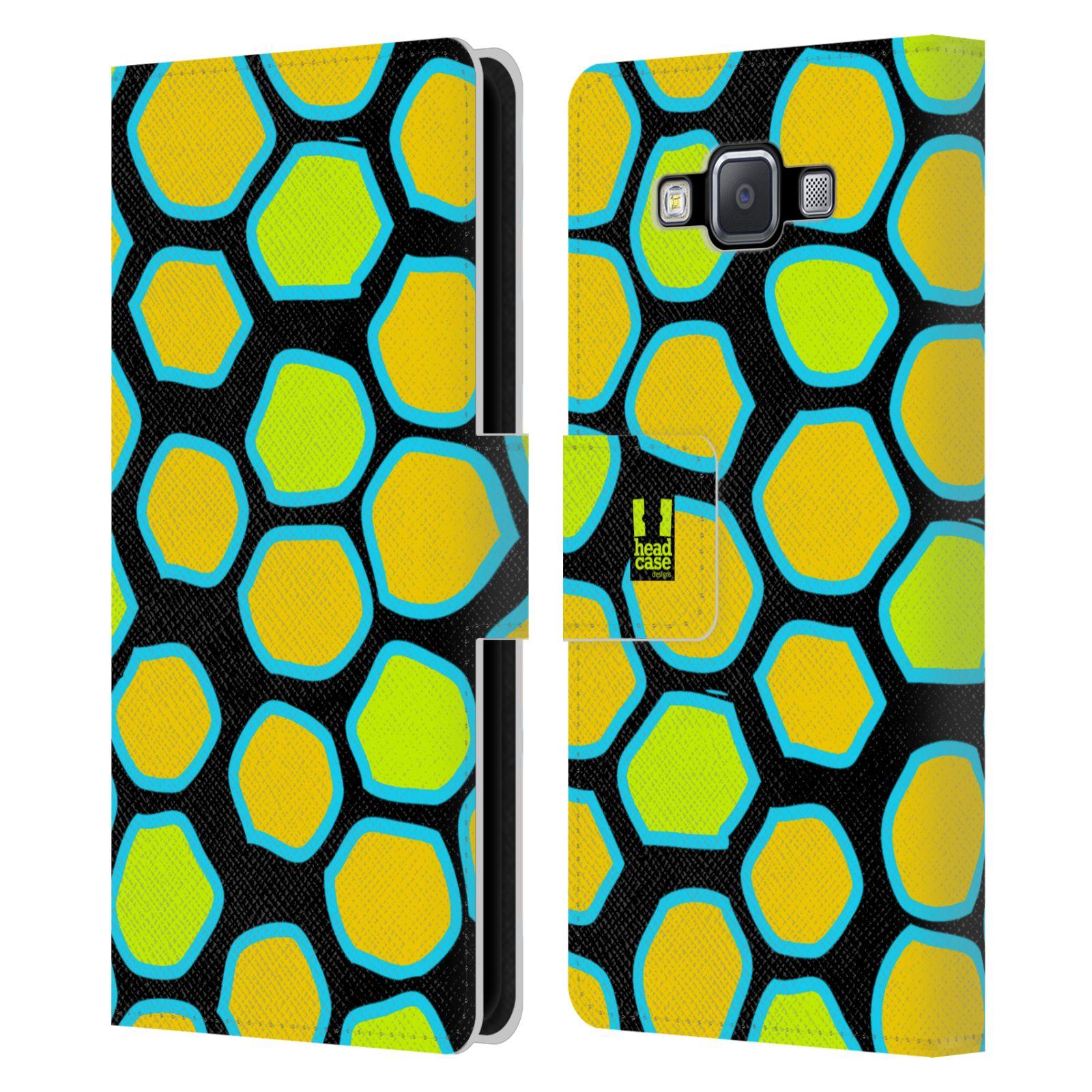 HEAD CASE Flipové pouzdro pro mobil Samsung Galaxy A5 Zvířecí barevné vzory žlutý had