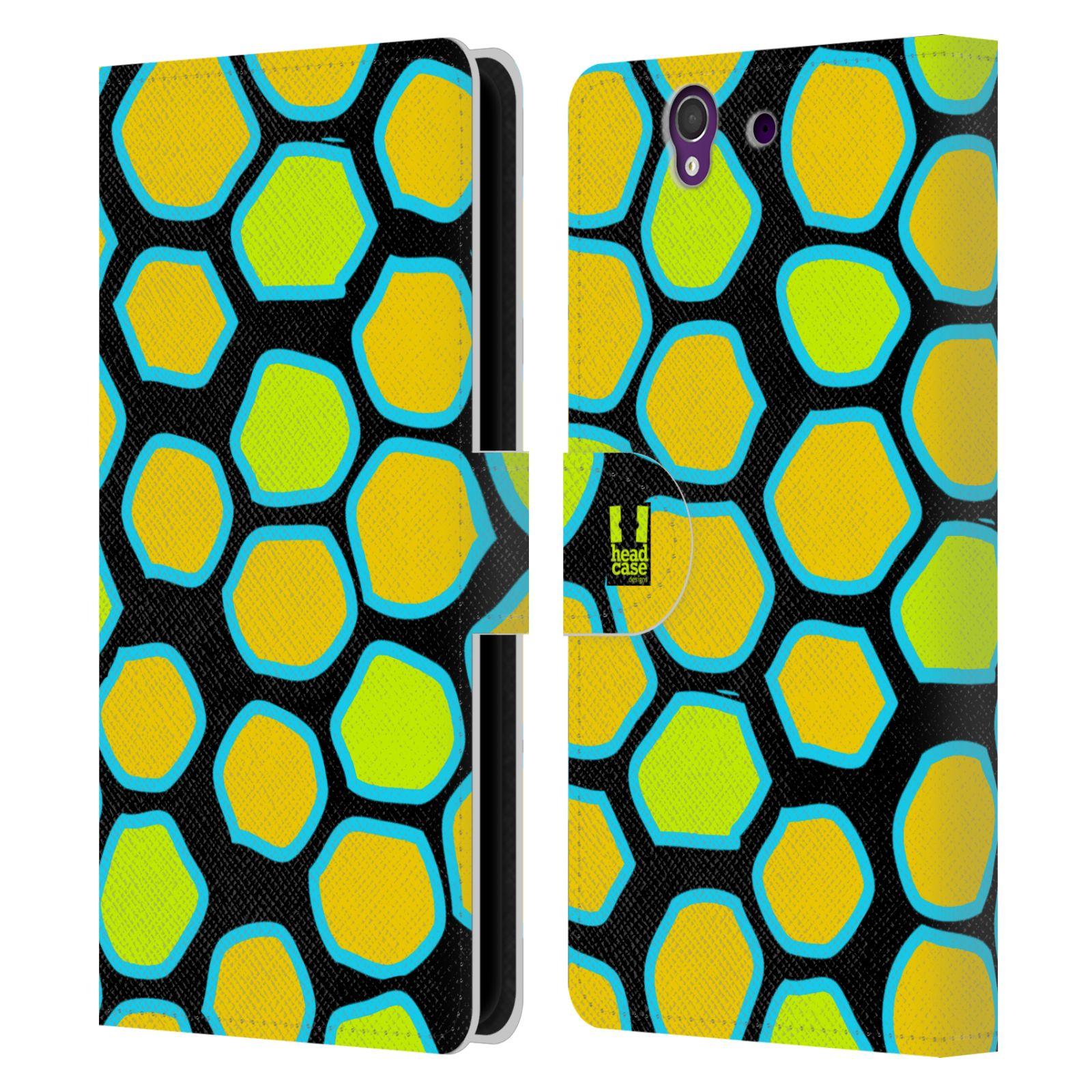 HEAD CASE Flipové pouzdro pro mobil SONY XPERIA Z (C6603) Zvířecí barevné vzory žlutý had