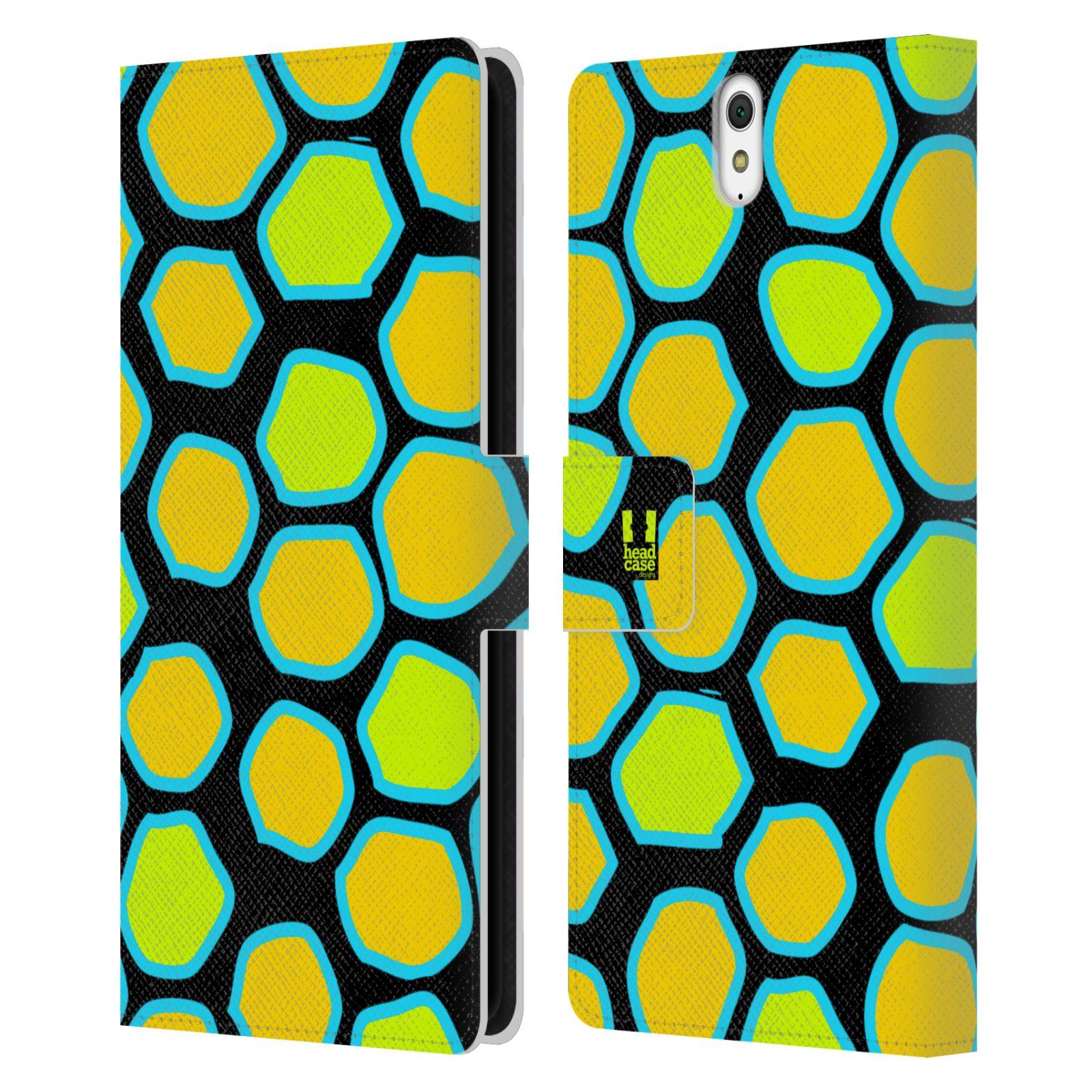 HEAD CASE Flipové pouzdro pro mobil SONY XPERIA C5 Ultra Zvířecí barevné vzory žlutý had