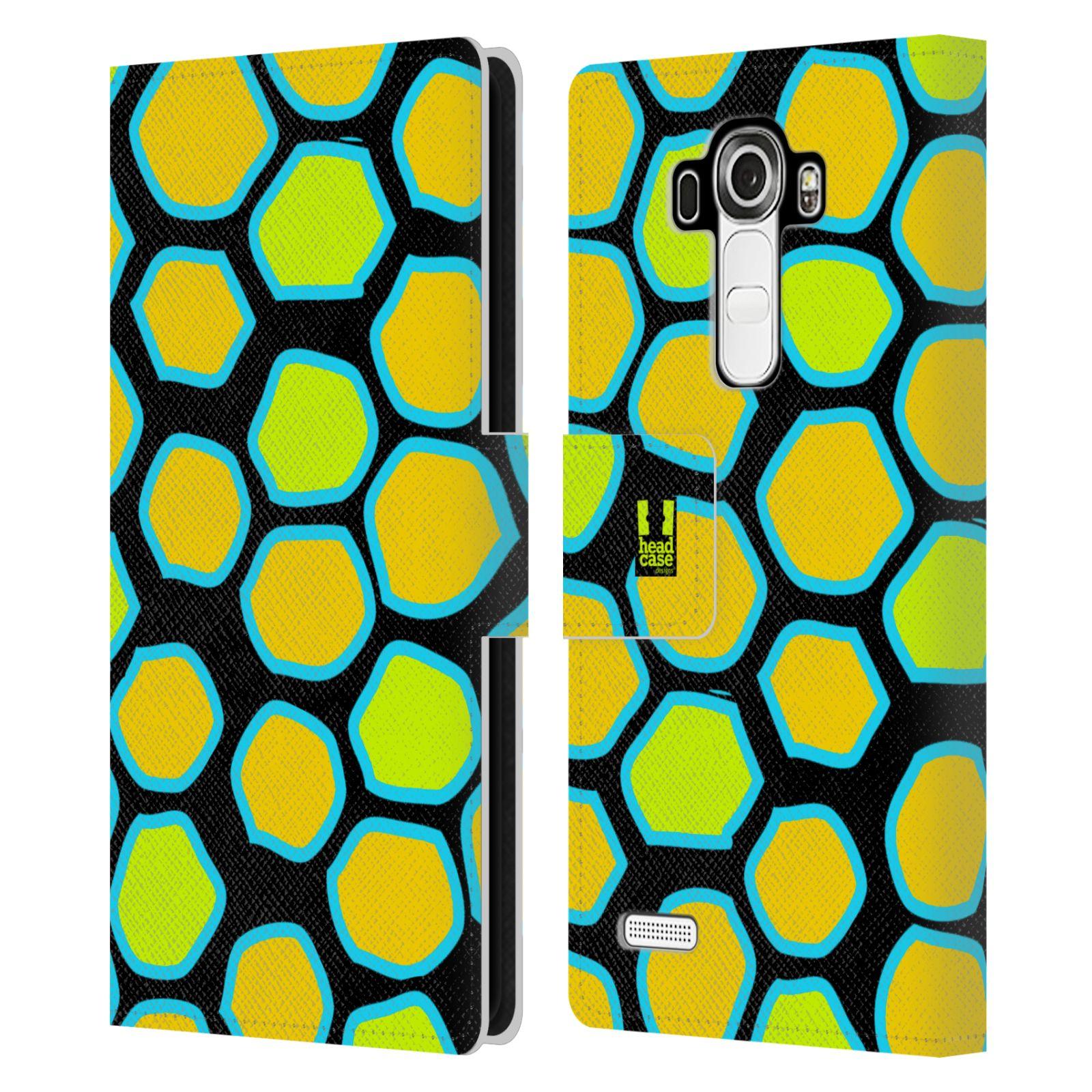 HEAD CASE Flipové pouzdro pro mobil LG G4 (H815) Zvířecí barevné vzory žlutý had