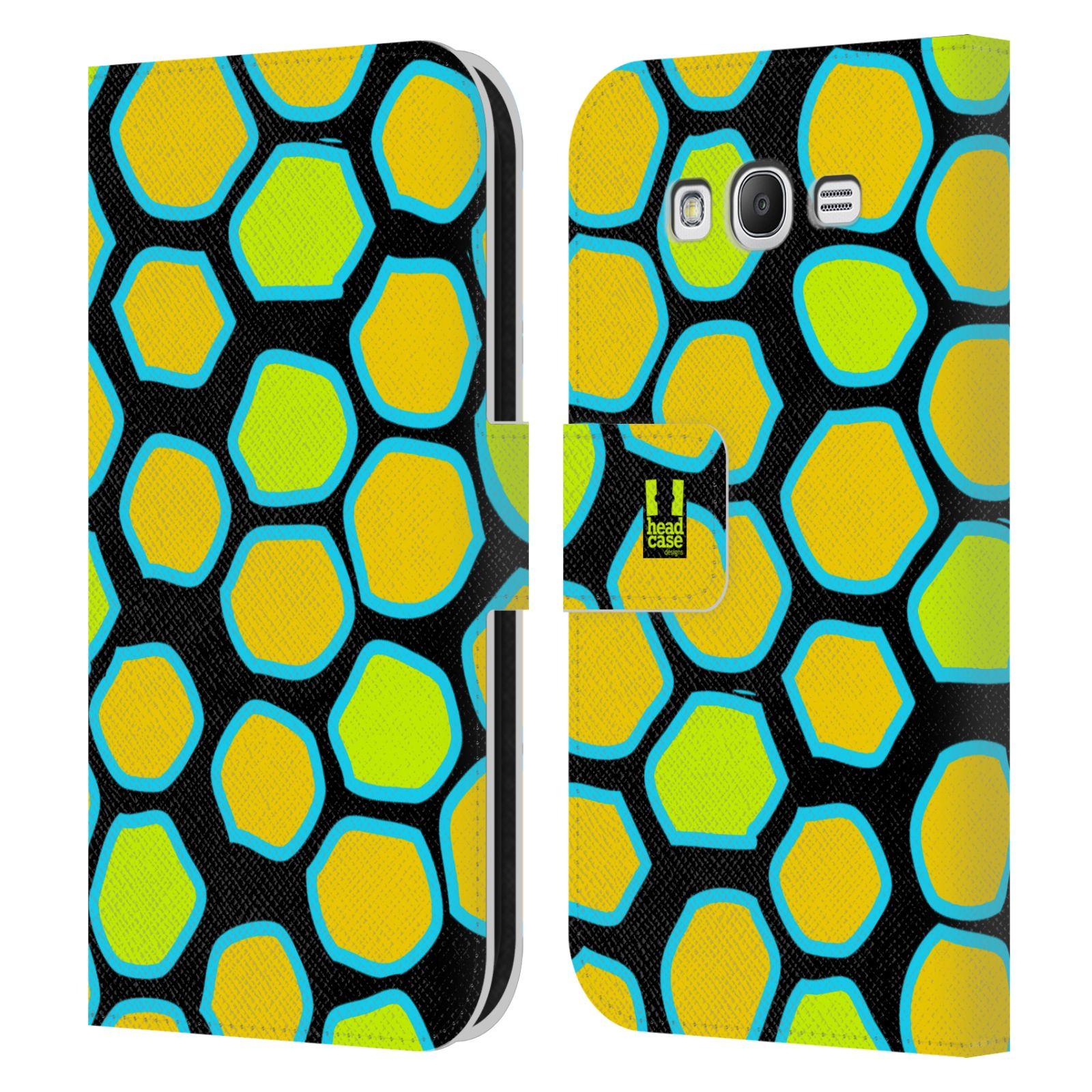 HEAD CASE Flipové pouzdro pro mobil Samsung Galaxy Grand i9080 Zvířecí barevné vzory žlutý had