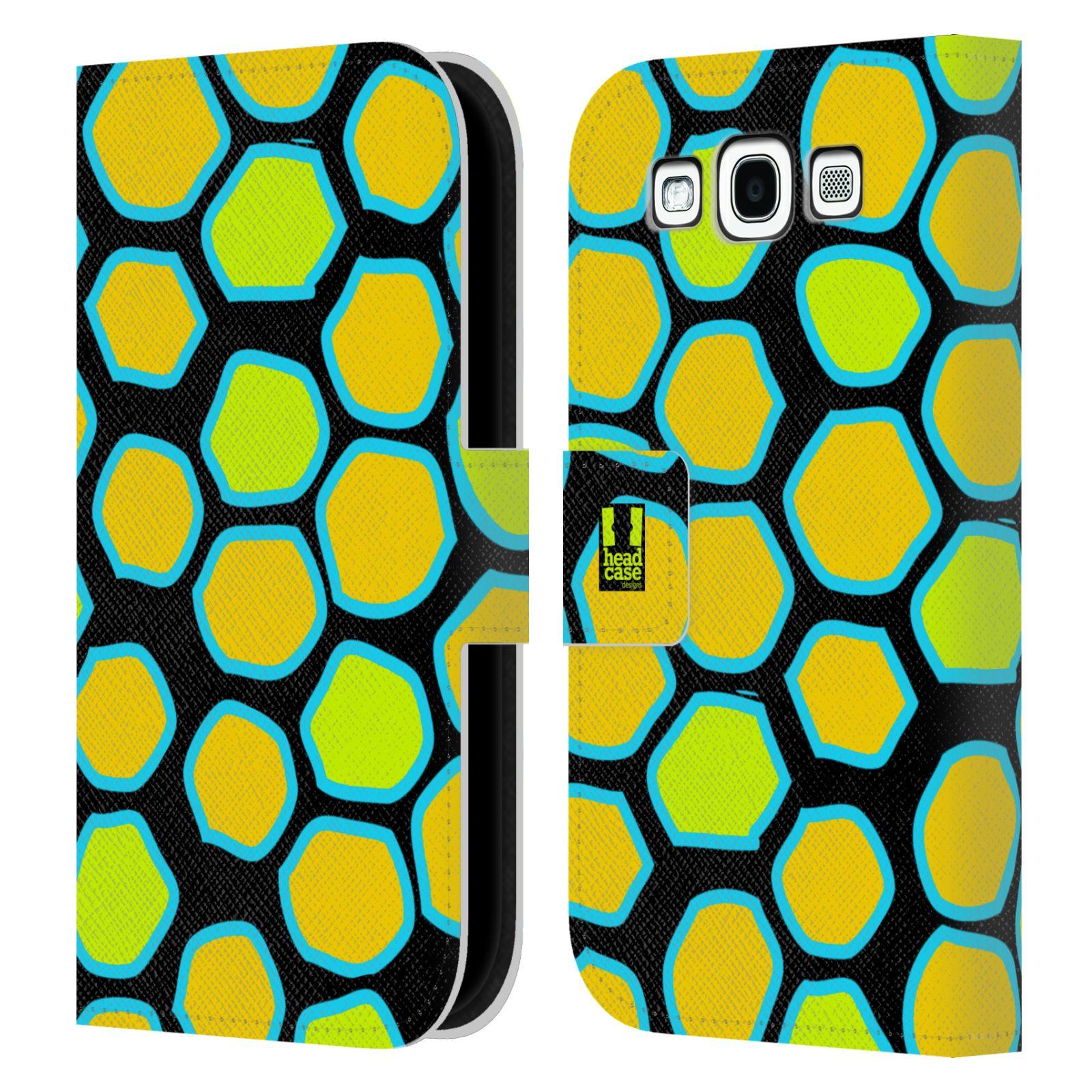 HEAD CASE Flipové pouzdro pro mobil Samsung Galaxy S3 Zvířecí barevné vzory žlutý had