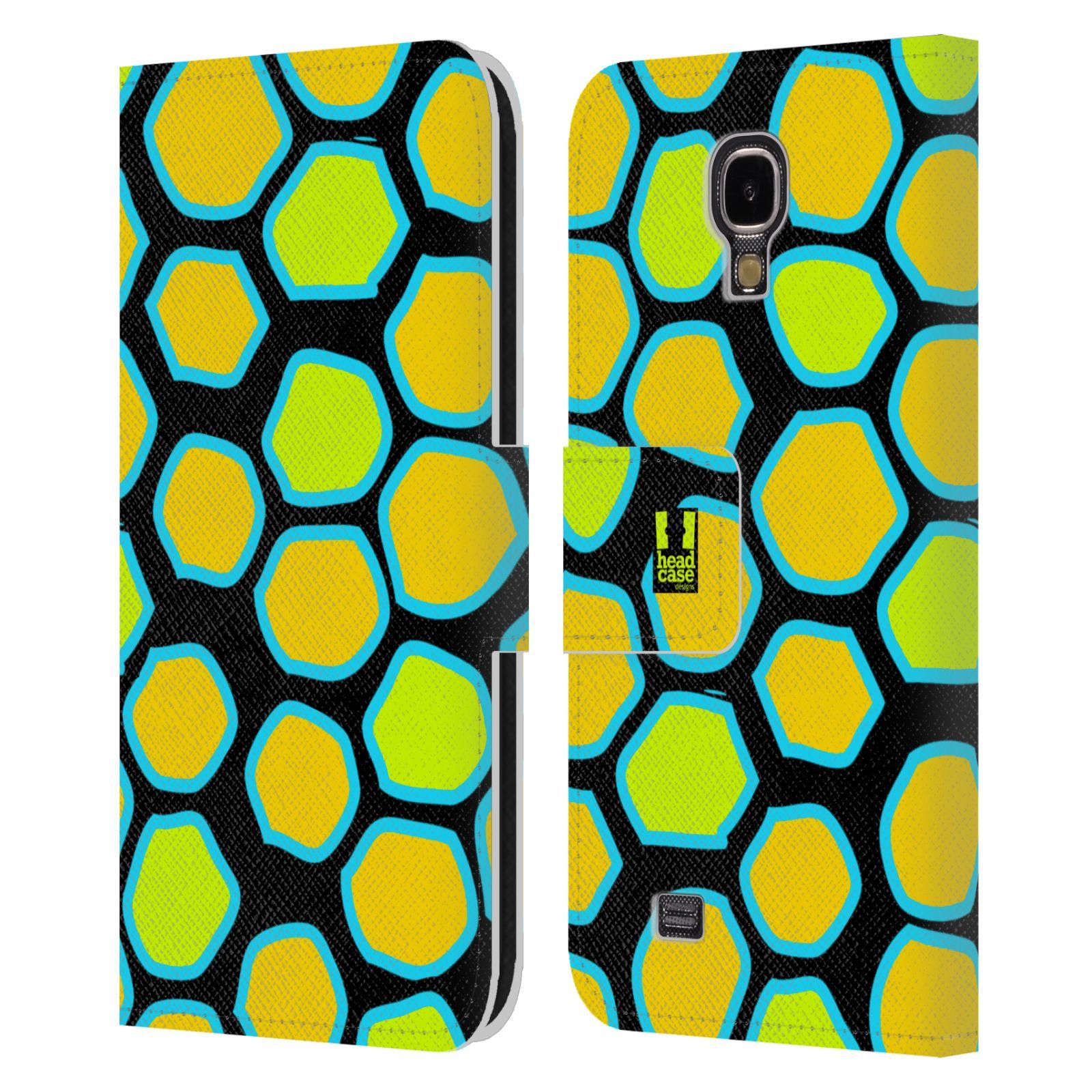 HEAD CASE Flipové pouzdro pro mobil Samsung Galaxy S4 Zvířecí barevné vzory žlutý had