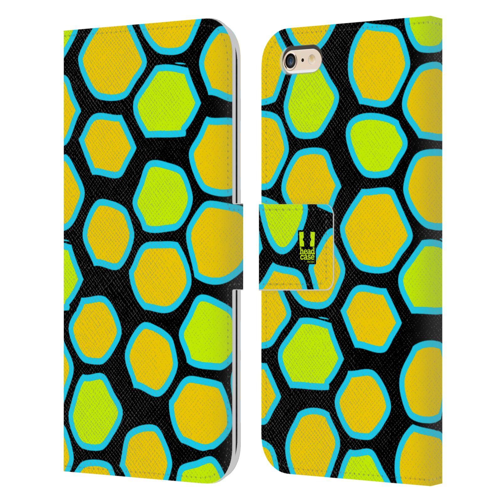 HEAD CASE Flipové pouzdro pro mobil Apple Iphone 6 PLUS / 6S PLUS Zvířecí barevné vzory žlutý had