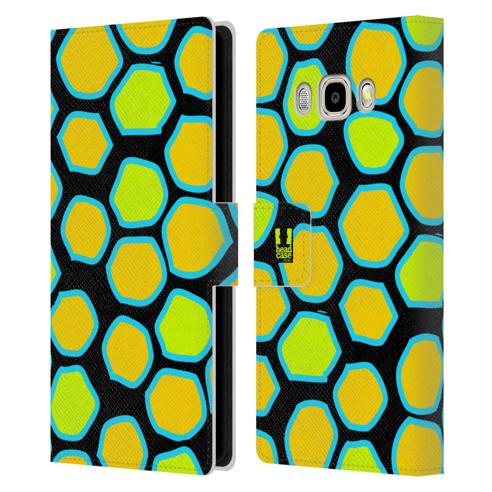 HEAD CASE Flipové pouzdro pro mobil Samsung Galaxy J5 2016 Zvířecí barevné vzory žlutý had