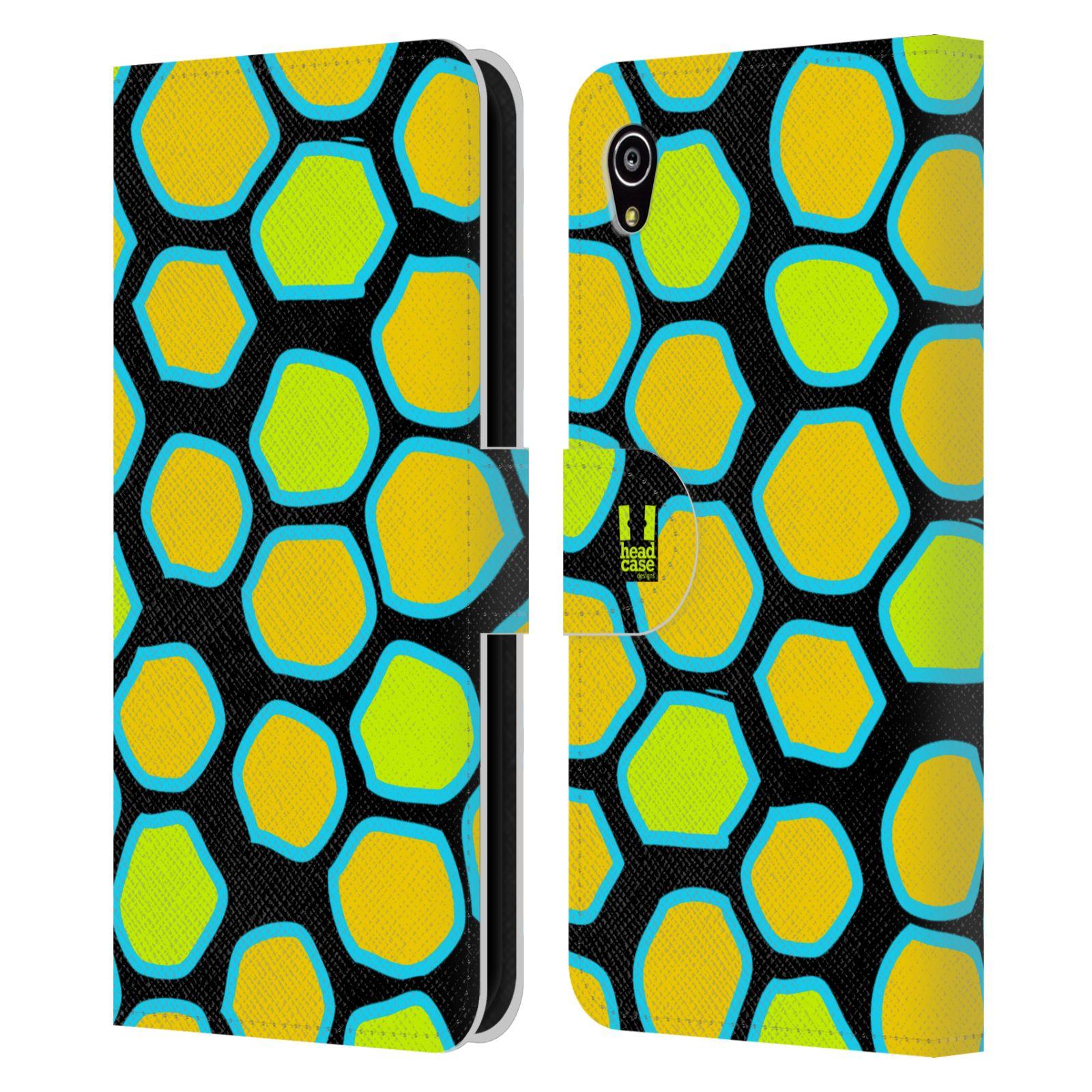 HEAD CASE Flipové pouzdro pro mobil SONY XPERIA M4 AQUA Zvířecí barevné vzory žlutý had
