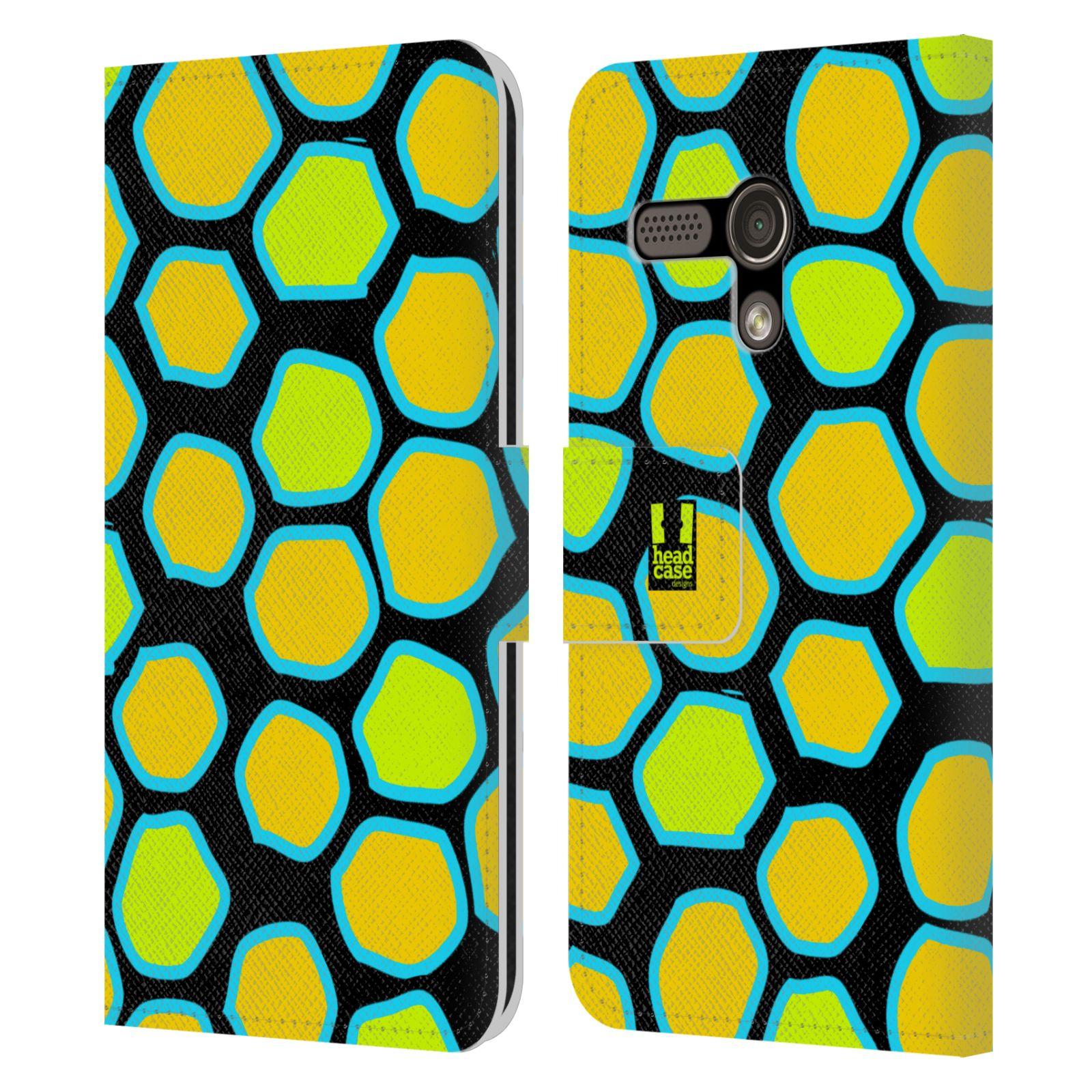 HEAD CASE Flipové pouzdro pro mobil MOTOROLA MOTO G Zvířecí barevné vzory žlutý had
