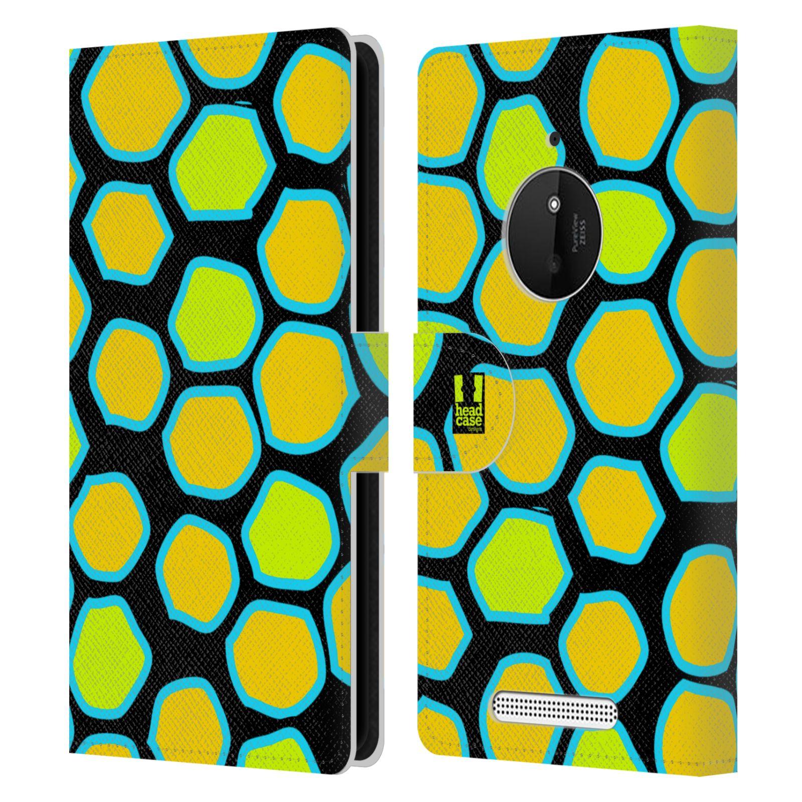 HEAD CASE Flipové pouzdro pro mobil NOKIA LUMIA 830 Zvířecí barevné vzory žlutý had