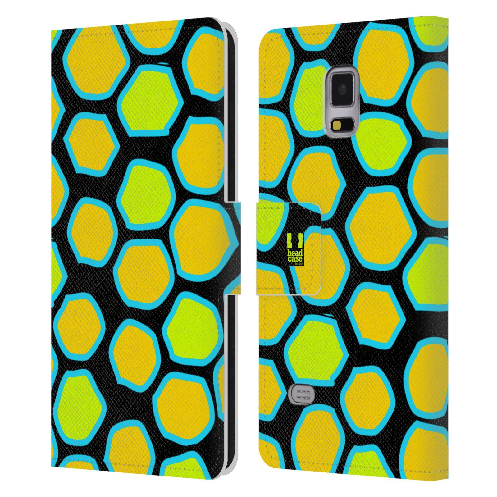 HEAD CASE Flipové pouzdro pro mobil Samsung Galaxy Note 4 Zvířecí barevné vzory žlutý had