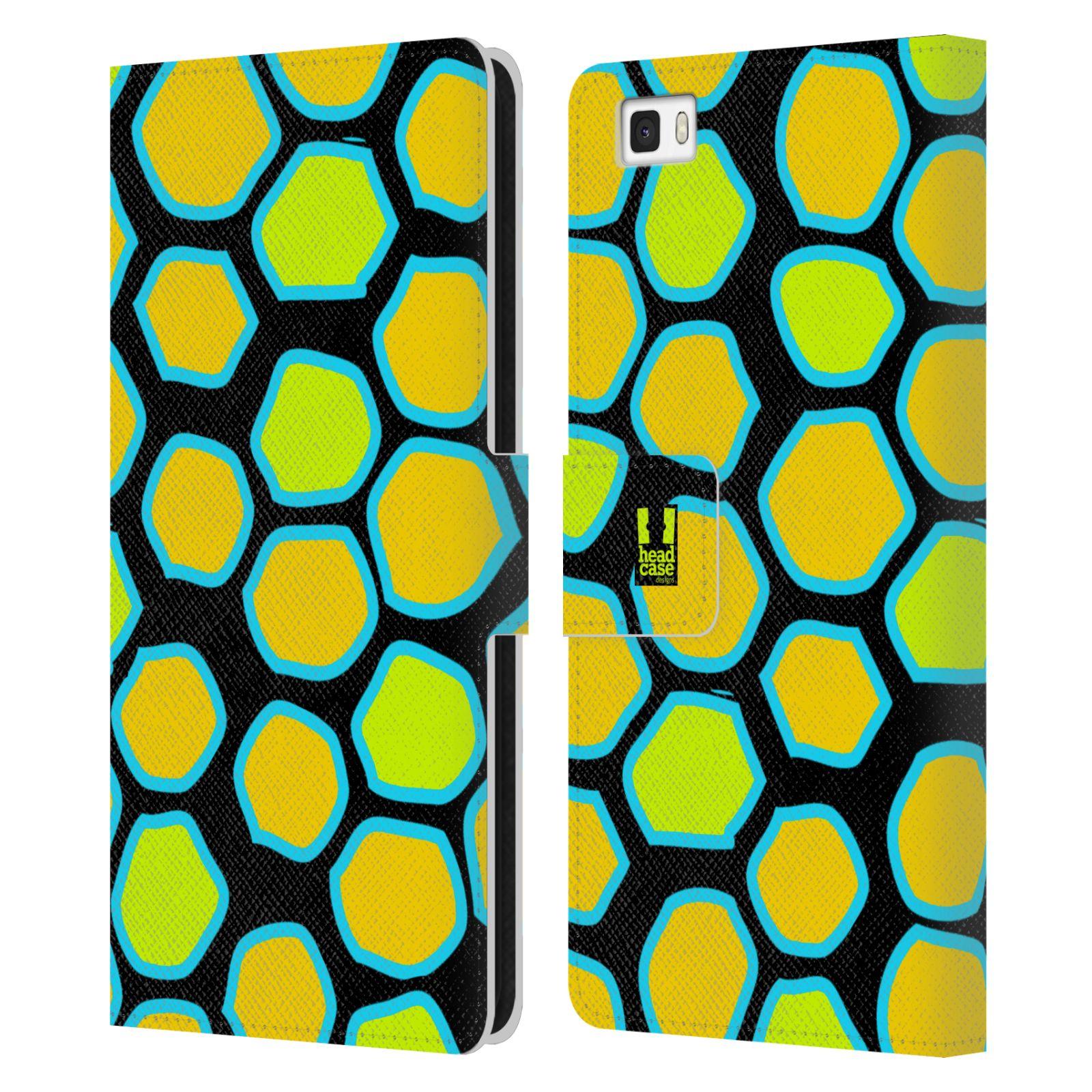 HEAD CASE Flipové pouzdro pro mobil Huawei P8 LITE Zvířecí barevné vzory žlutý had