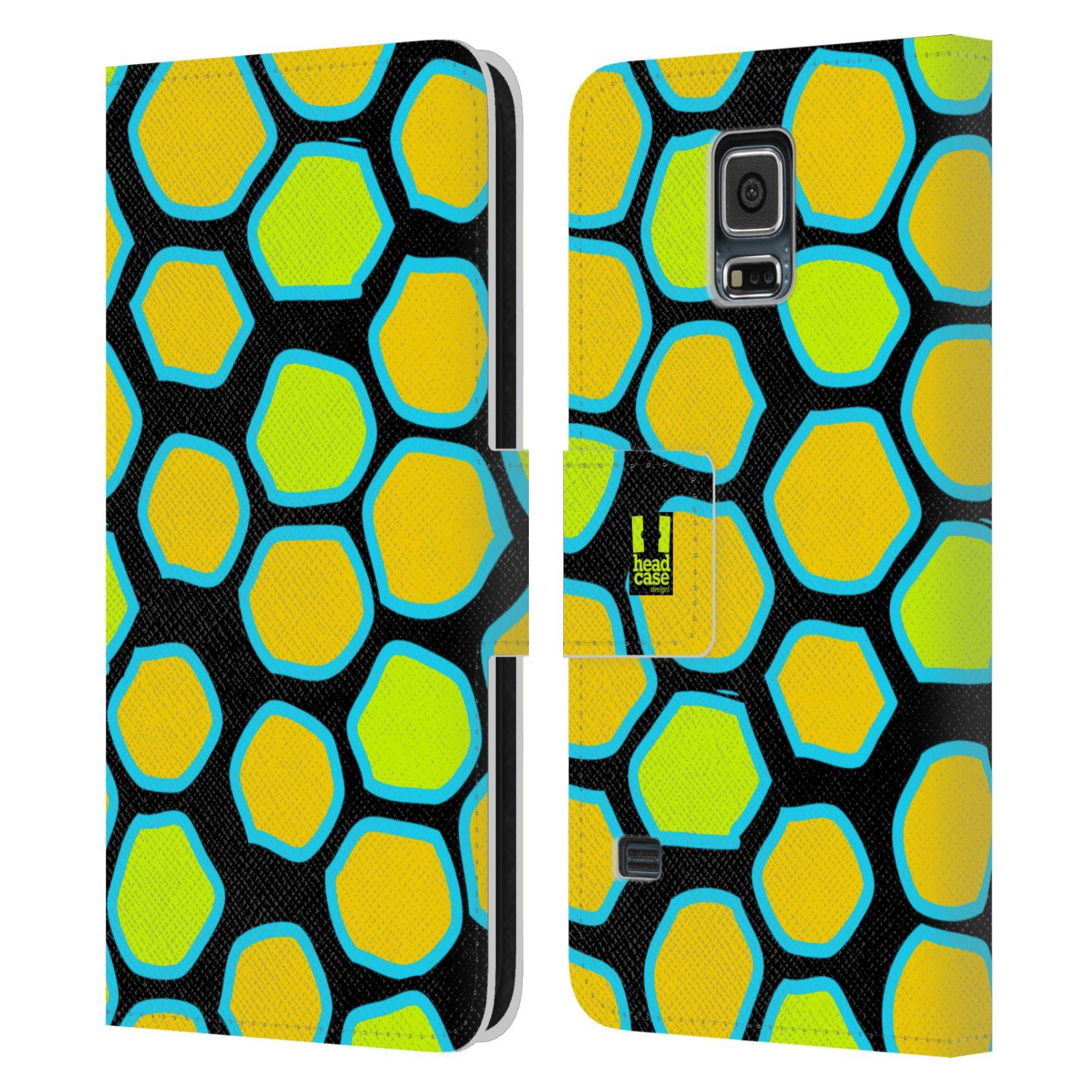 HEAD CASE Flipové pouzdro pro mobil Samsung Galaxy S5 / S5 NEO Zvířecí barevné vzory žlutý had