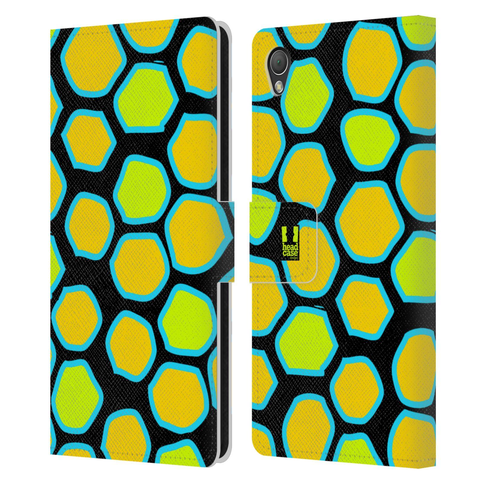 HEAD CASE Flipové pouzdro pro mobil SONY XPERIA Z3 Zvířecí barevné vzory žlutý had