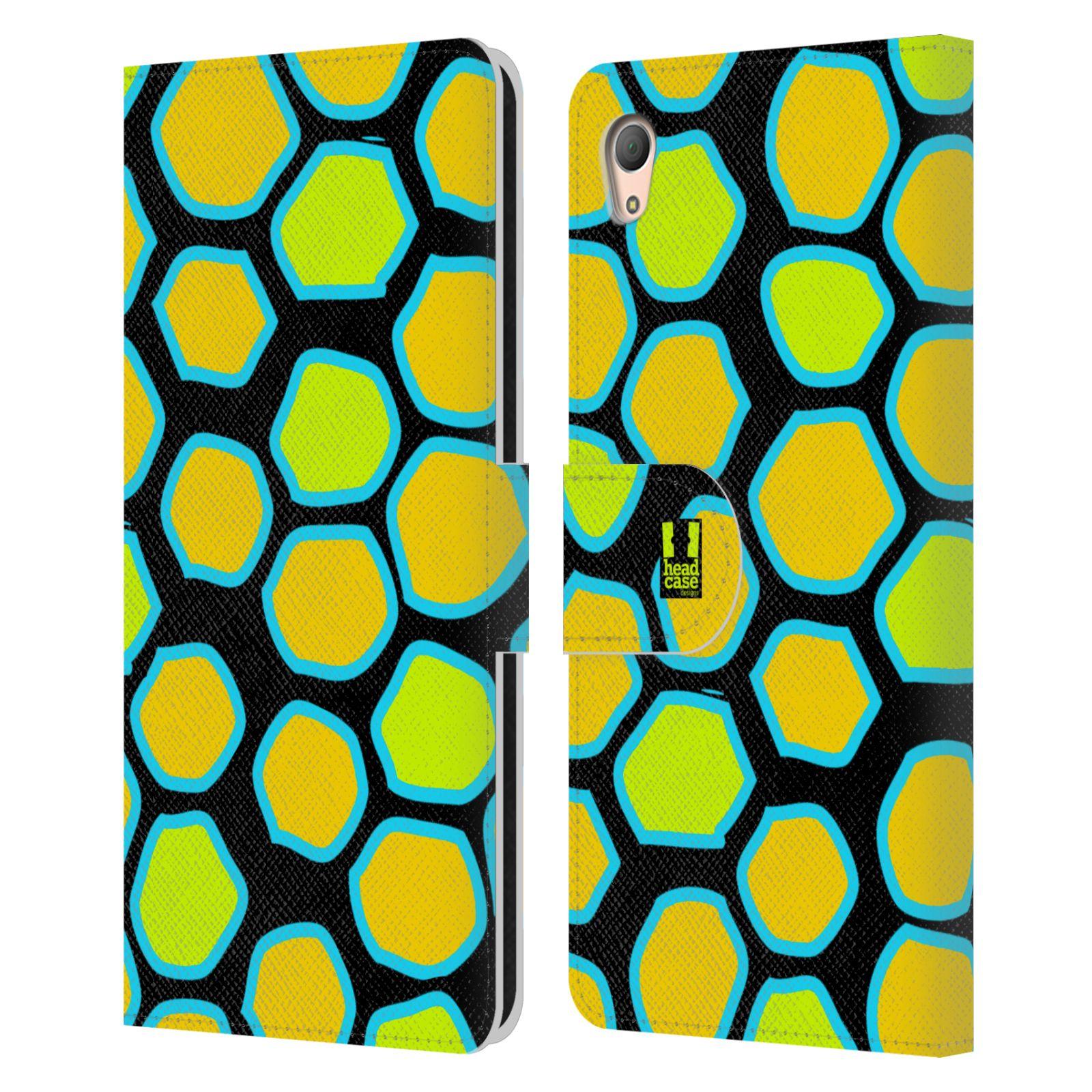 HEAD CASE Flipové pouzdro pro mobil SONY XPERIA Z3+ (PLUS) Zvířecí barevné vzory žlutý had