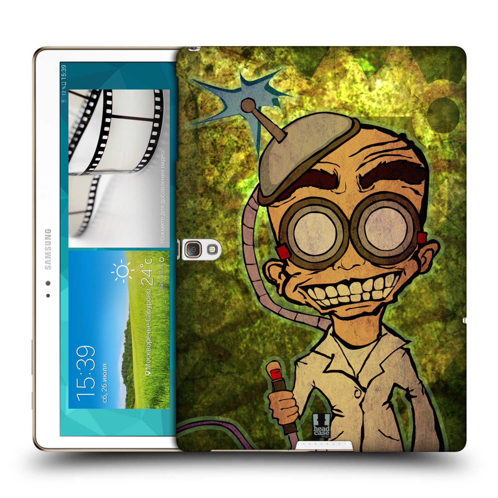 HEAD CASE MAD SCIENTISTS BACK COVER FOR SAMSUNG GALAXY TAB S 10.5 WIFI T800