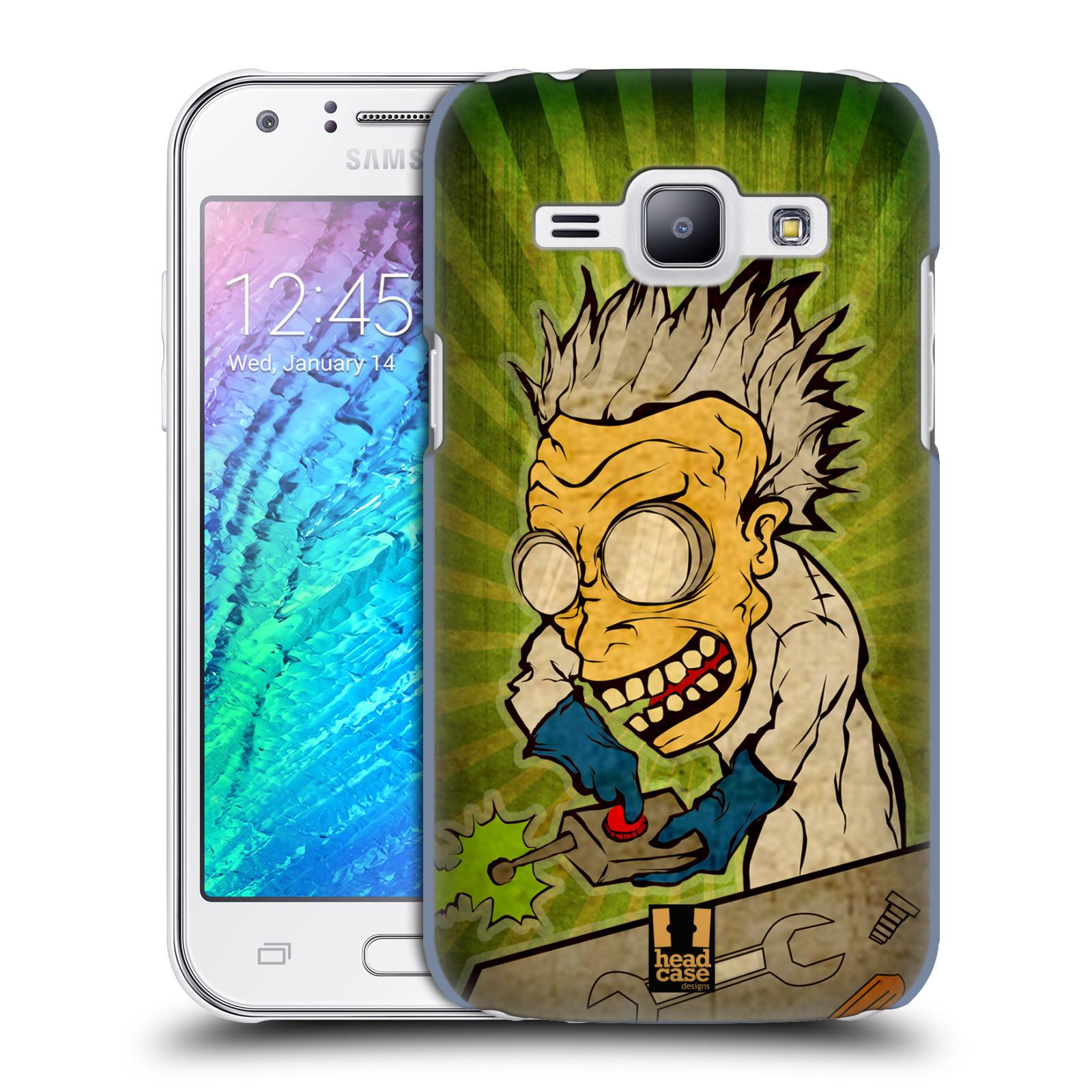 HEAD CASE plastový obal na mobil SAMSUNG Galaxy J1, J100 vzor Šilený profesor vědec tlačítko