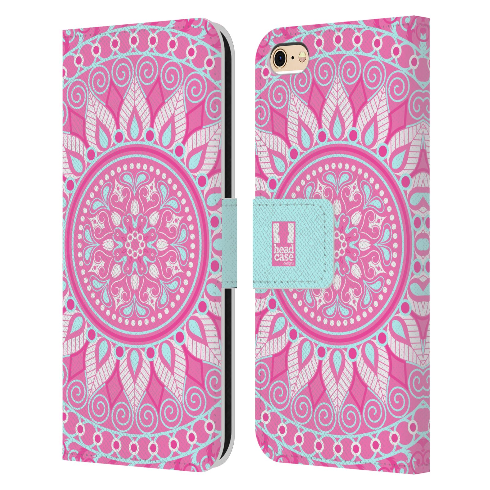 HEAD CASE DESIGNS MANDALA LEATHER BOOK WALLET CASE COVER FOR APPLE iPHONE PHONES