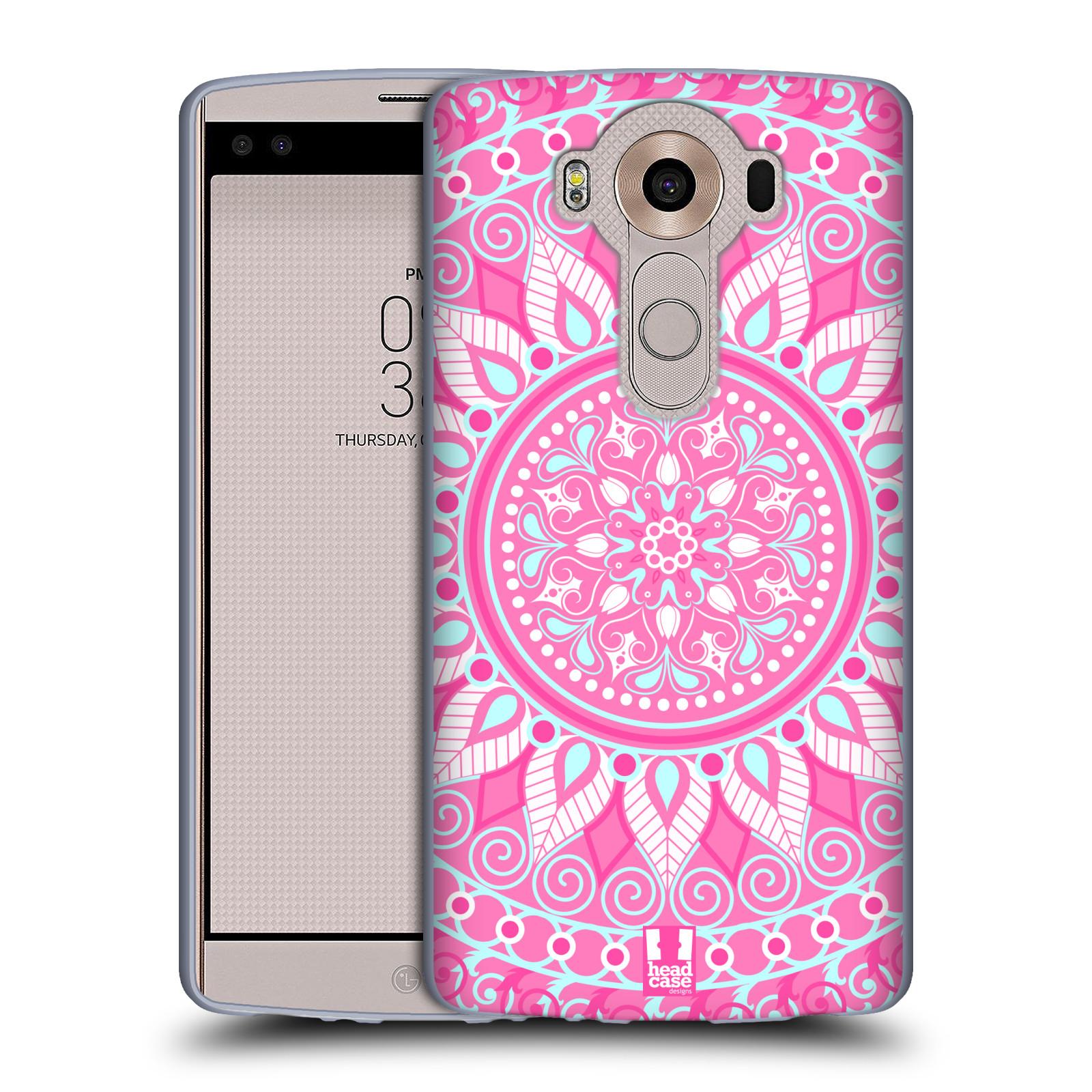 HEAD CASE silikonový obal na mobil LG V10 (H960A) vzor Indie Mandala slunce barevný motiv RŮŽOVÁ