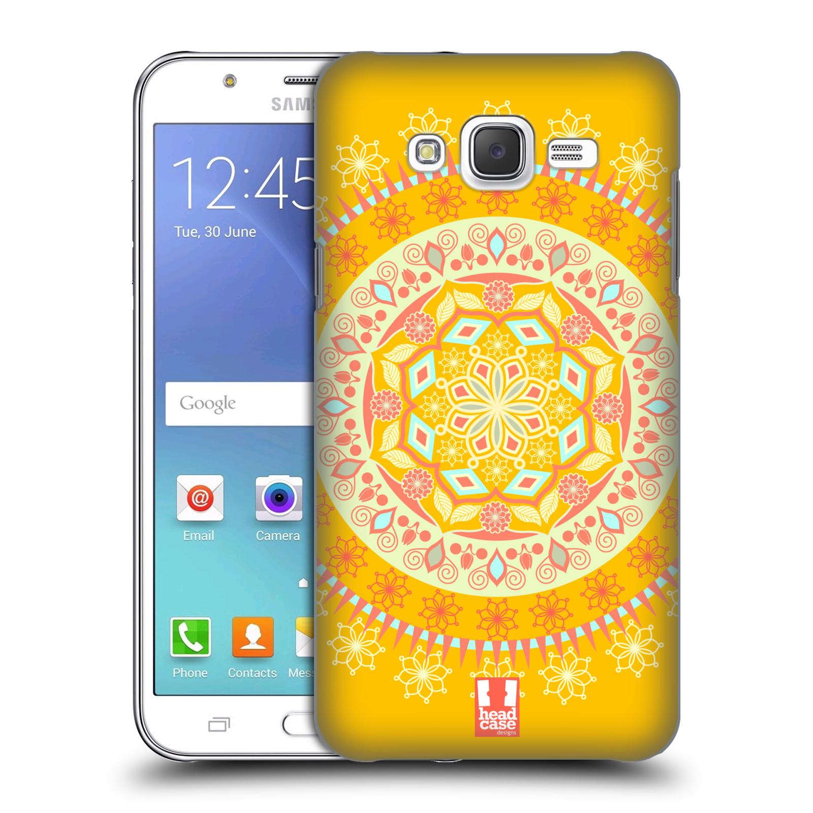 HEAD CASE plastový obal na mobil SAMSUNG Galaxy J5, J500 vzor Indie Mandala slunce barevný motiv ŽLUTÁ