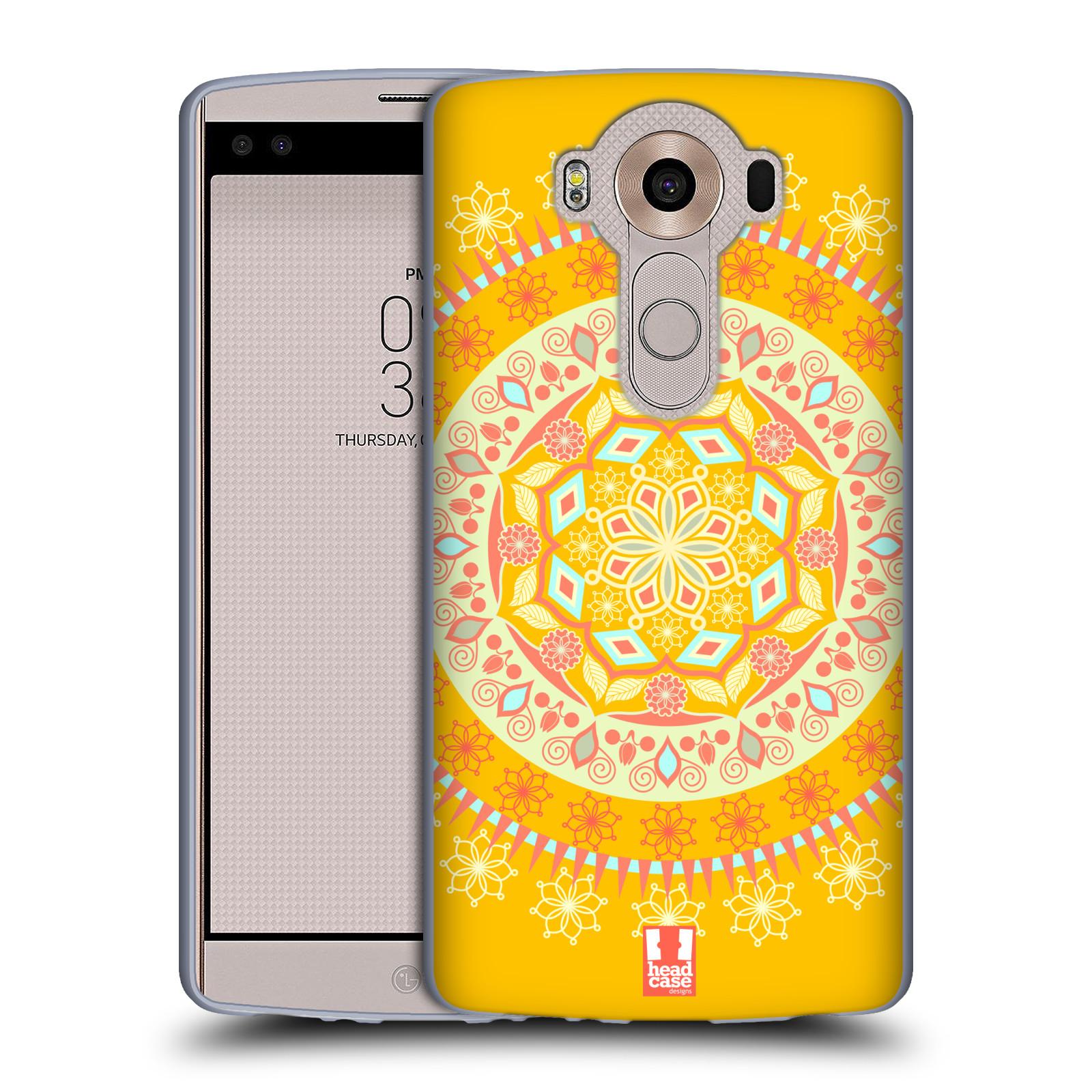 HEAD CASE silikonový obal na mobil LG V10 (H960A) vzor Indie Mandala slunce barevný motiv ŽLUTÁ