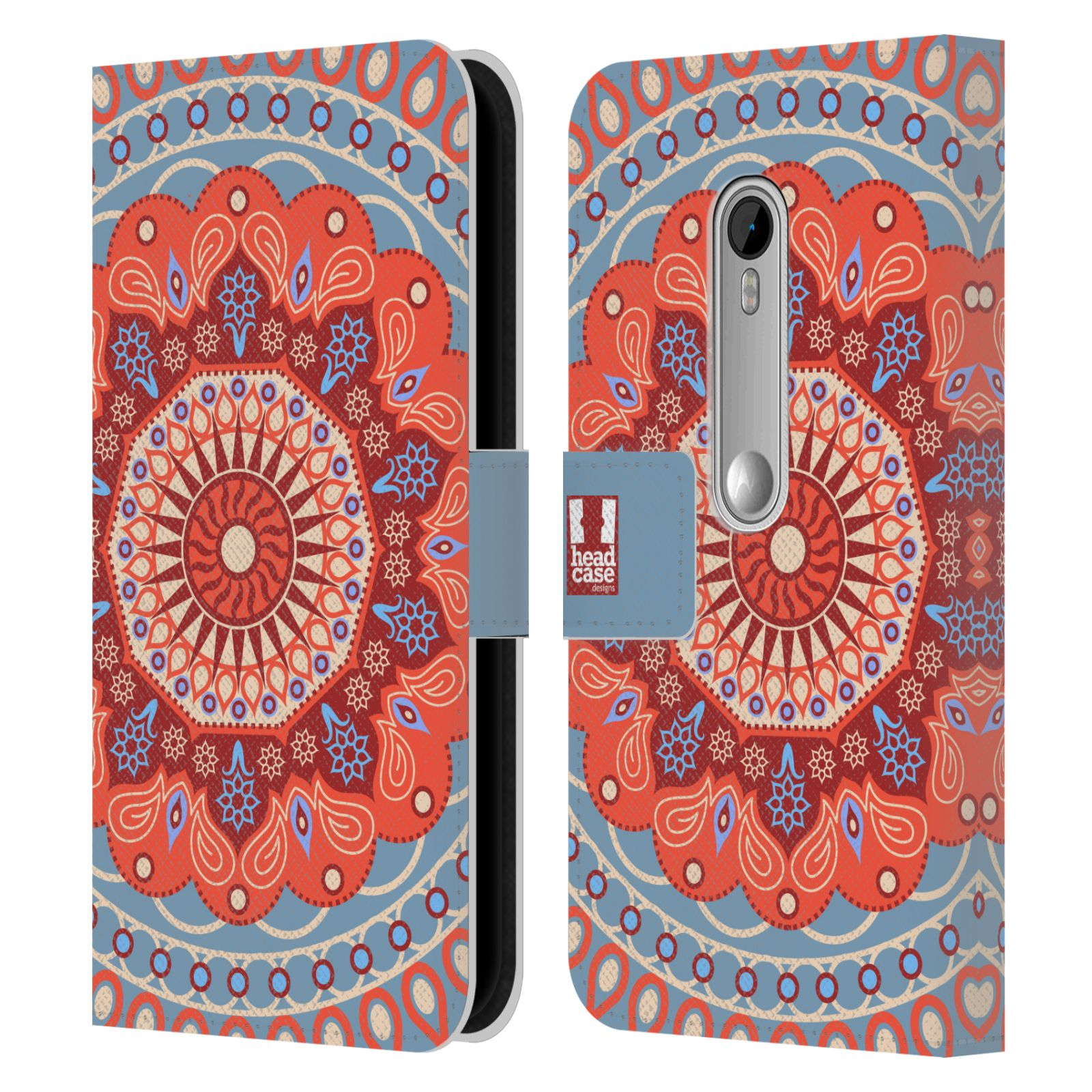 Leather Book Cover Design : Head case designs mandala leather book wallet cover