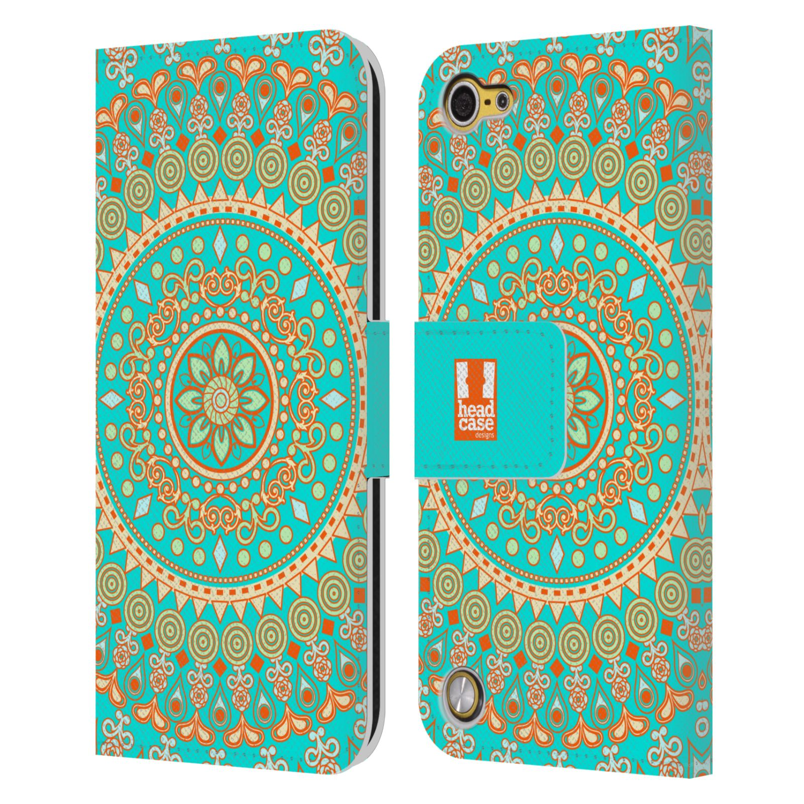 Head case designs mandala leather book wallet case cover for Apple design book