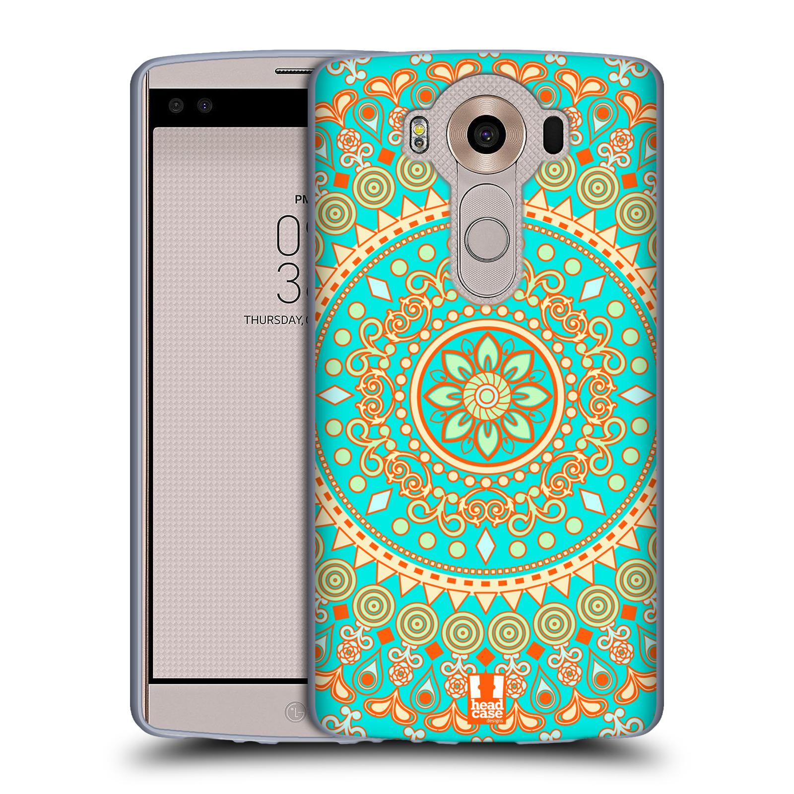 HEAD CASE silikonový obal na mobil LG V10 (H960A) vzor Indie Mandala slunce barevný motiv TYRKYSOVÁ, ZELENÁ