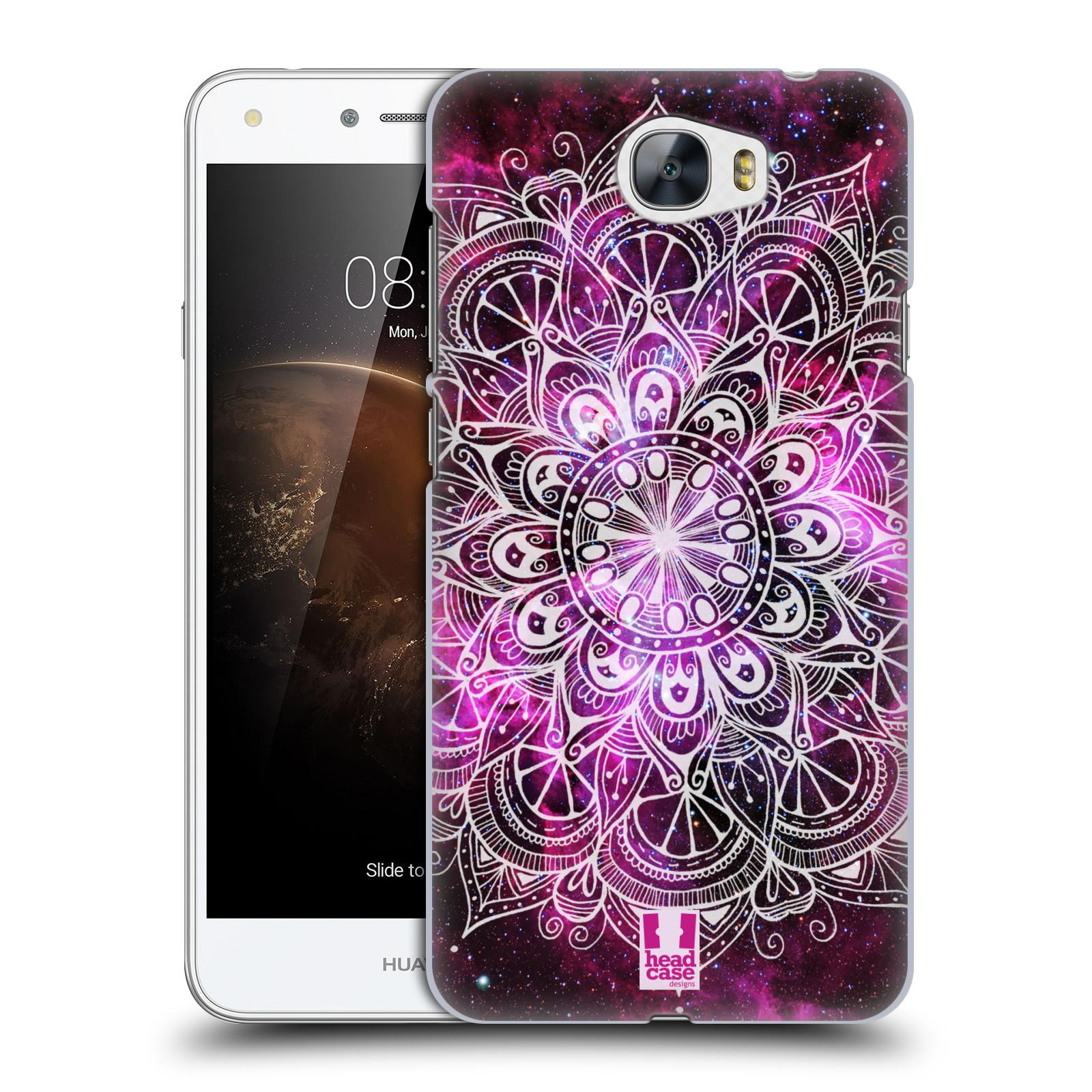 HEAD CASE plastový obal na mobil Huawei Y6 II Compact vzor Indie Mandala slunce barevná FIALOVÁ MLHOVINA