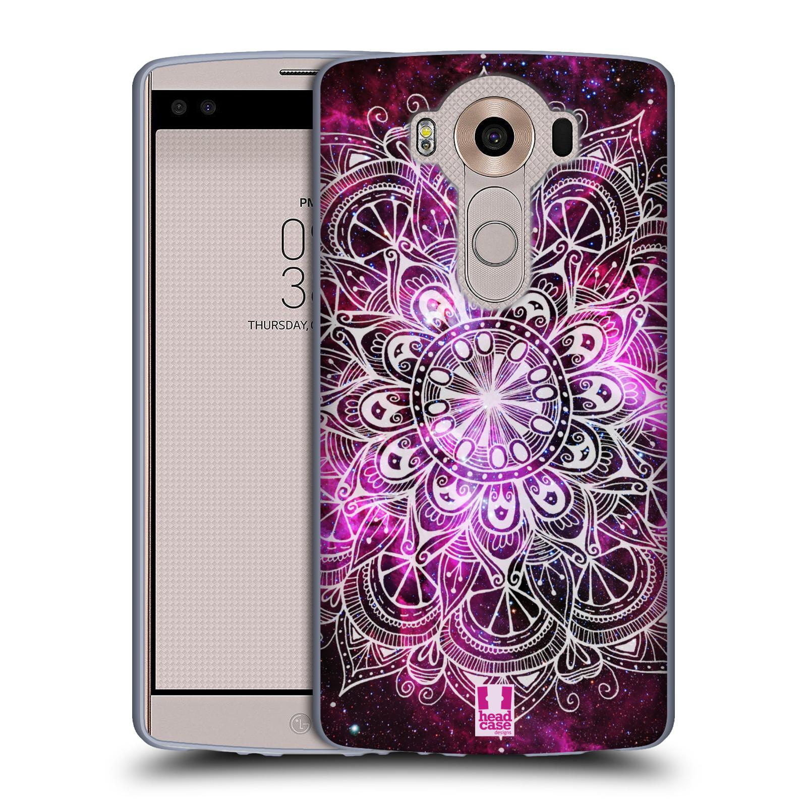 HEAD CASE silikonový obal na mobil LG V10 (H960A) vzor Indie Mandala slunce barevná FIALOVÁ MLHOVINA