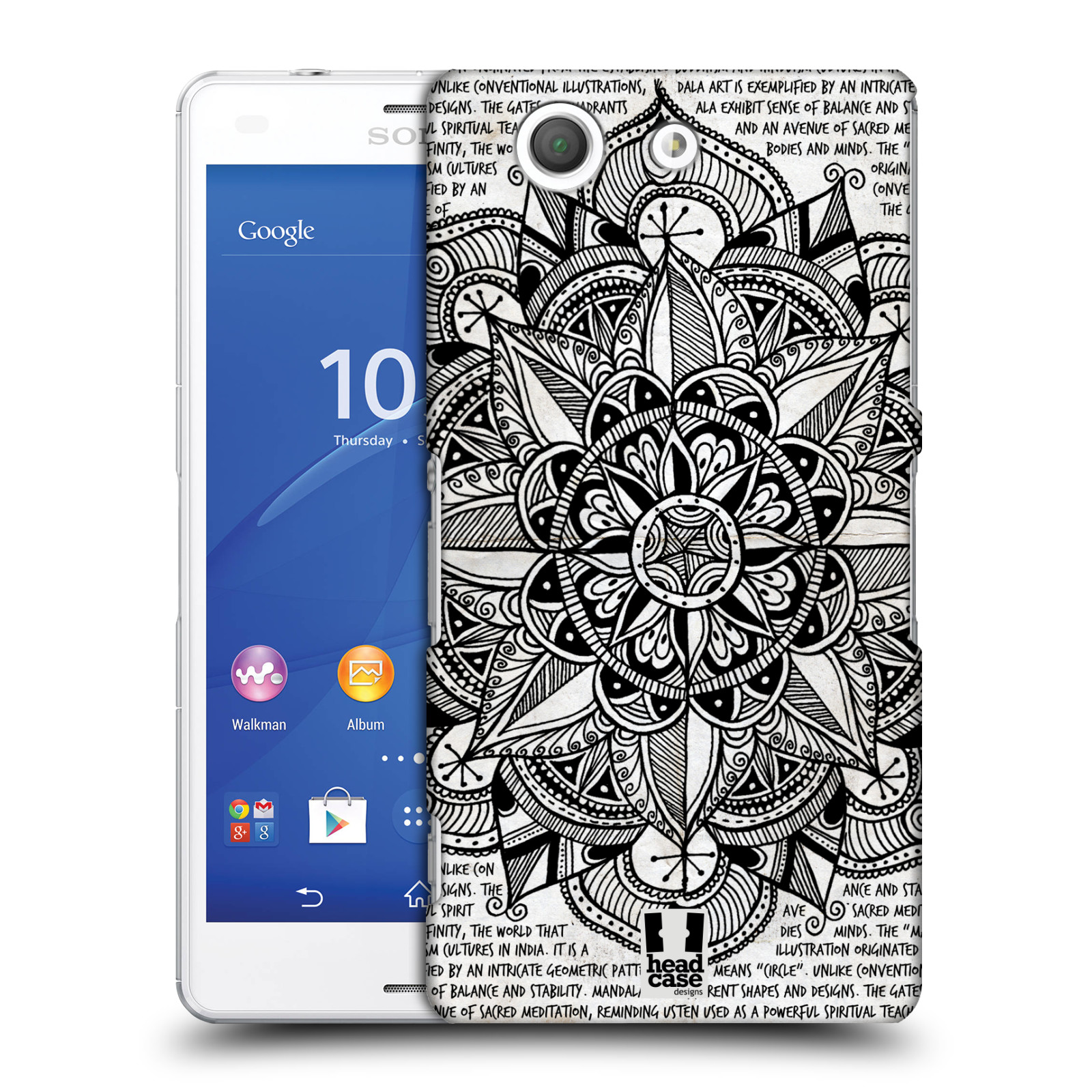 HEAD CASE DESIGNS MANDALA DOODLES CASE COVER FOR SONY XPERIA Z3 COMPACT D5803