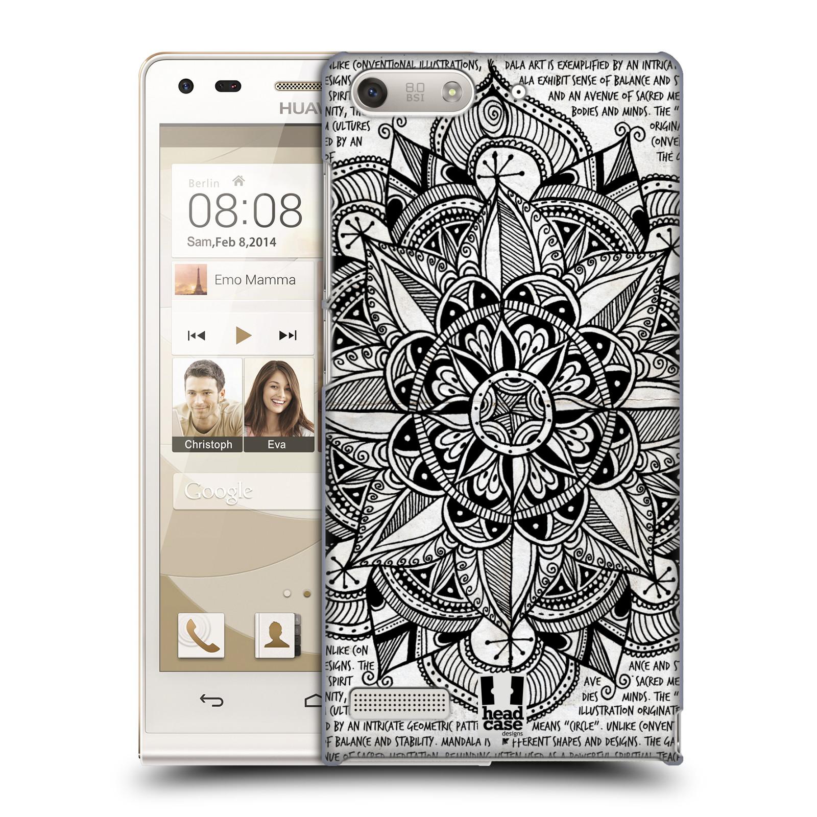 Plastové pouzdro na mobil Huawei Ascend G6 HEAD CASE Mandala Doodle Paper (Kryt či obal na mobilní telefon Huawei Ascend G6 bez LTE)