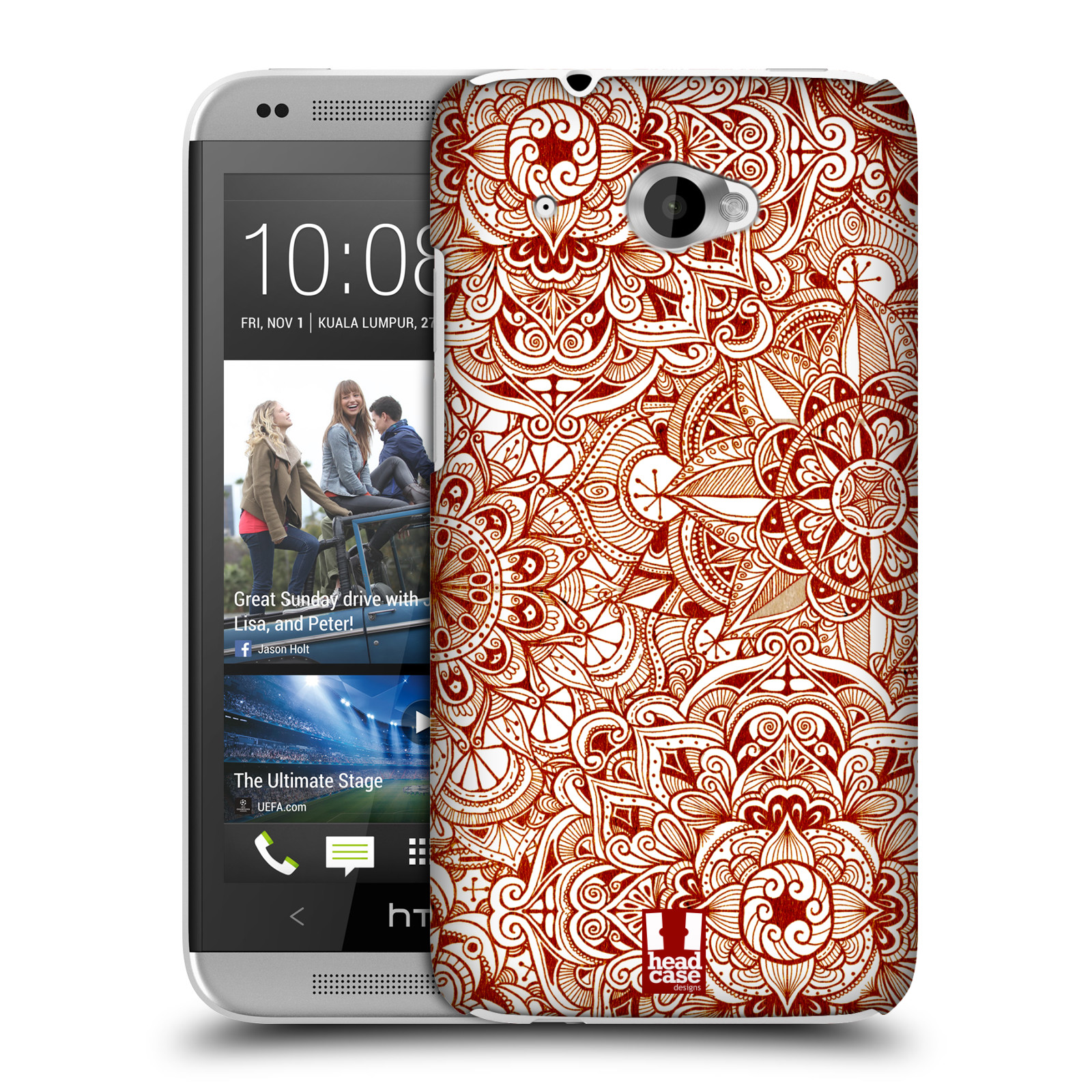 HEAD CASE DESIGNS MANDALA DOODLES CASE COVER FOR HTC DESIRE 601 LTE