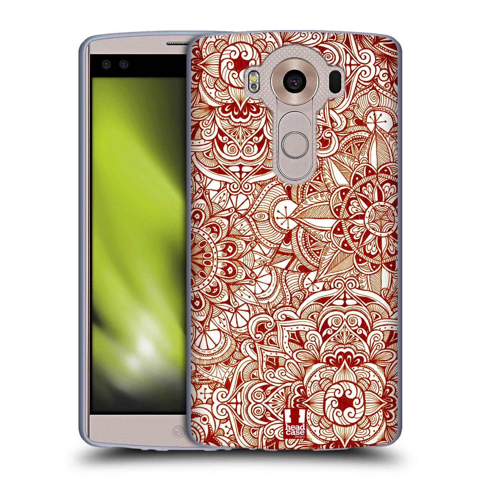 HEAD CASE silikonový obal na mobil LG V10 (H960A) vzor Indie Mandala slunce barevná ČERVENÁ RUDÁ MAPA