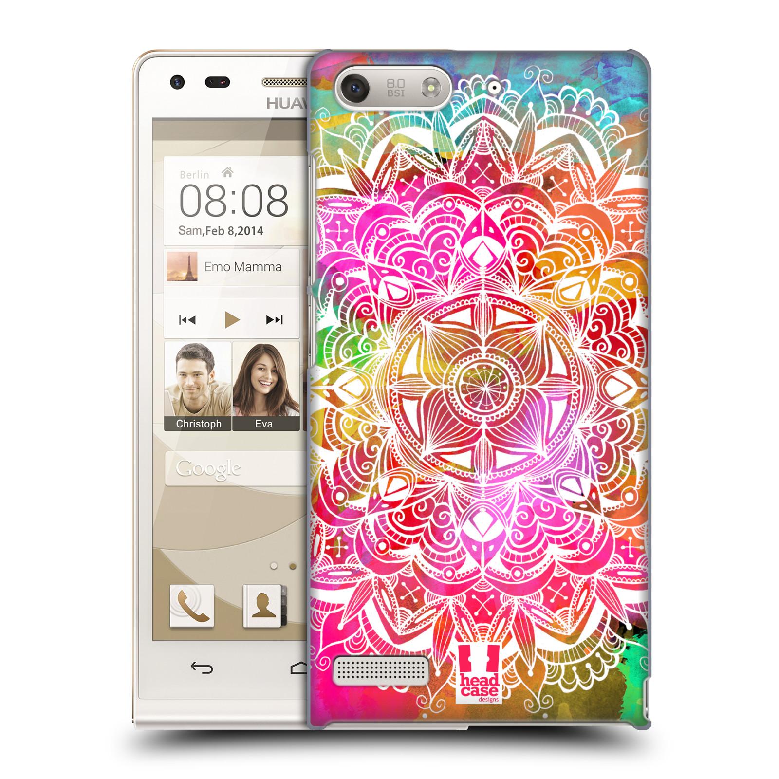 Plastové pouzdro na mobil Huawei Ascend G6 HEAD CASE Mandala Doodle Watercolour (Kryt či obal na mobilní telefon Huawei Ascend G6 bez LTE)