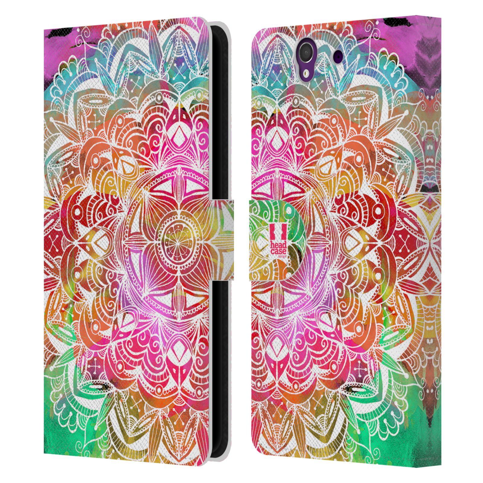 HEAD CASE Flipové pouzdro pro mobil SONY XPERIA Z (C6603) mandala kreslená duha