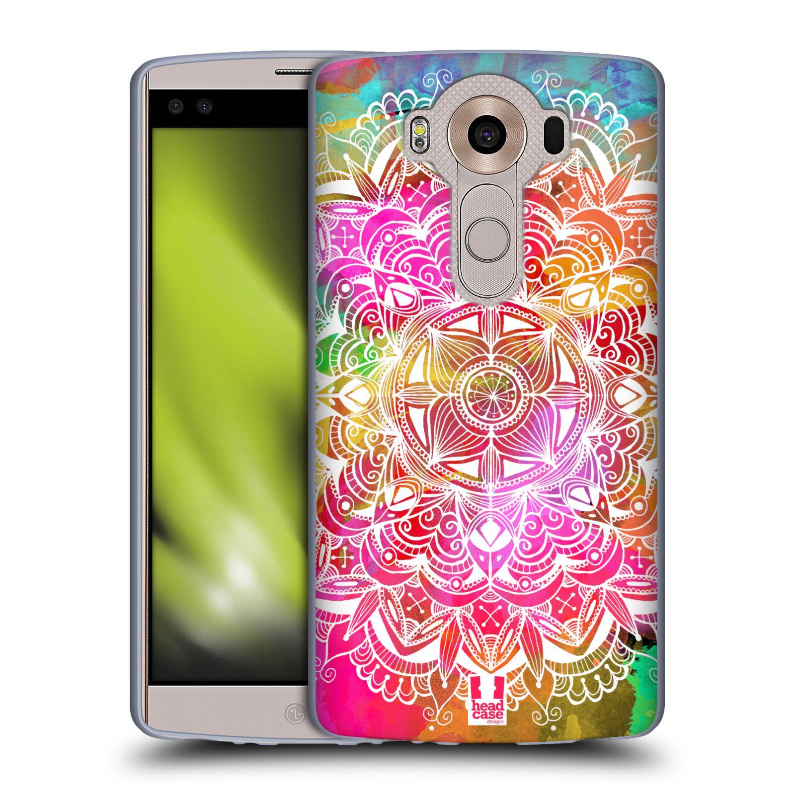 HEAD CASE silikonový obal na mobil LG V10 (H960A) vzor Indie Mandala slunce barevná DUHA