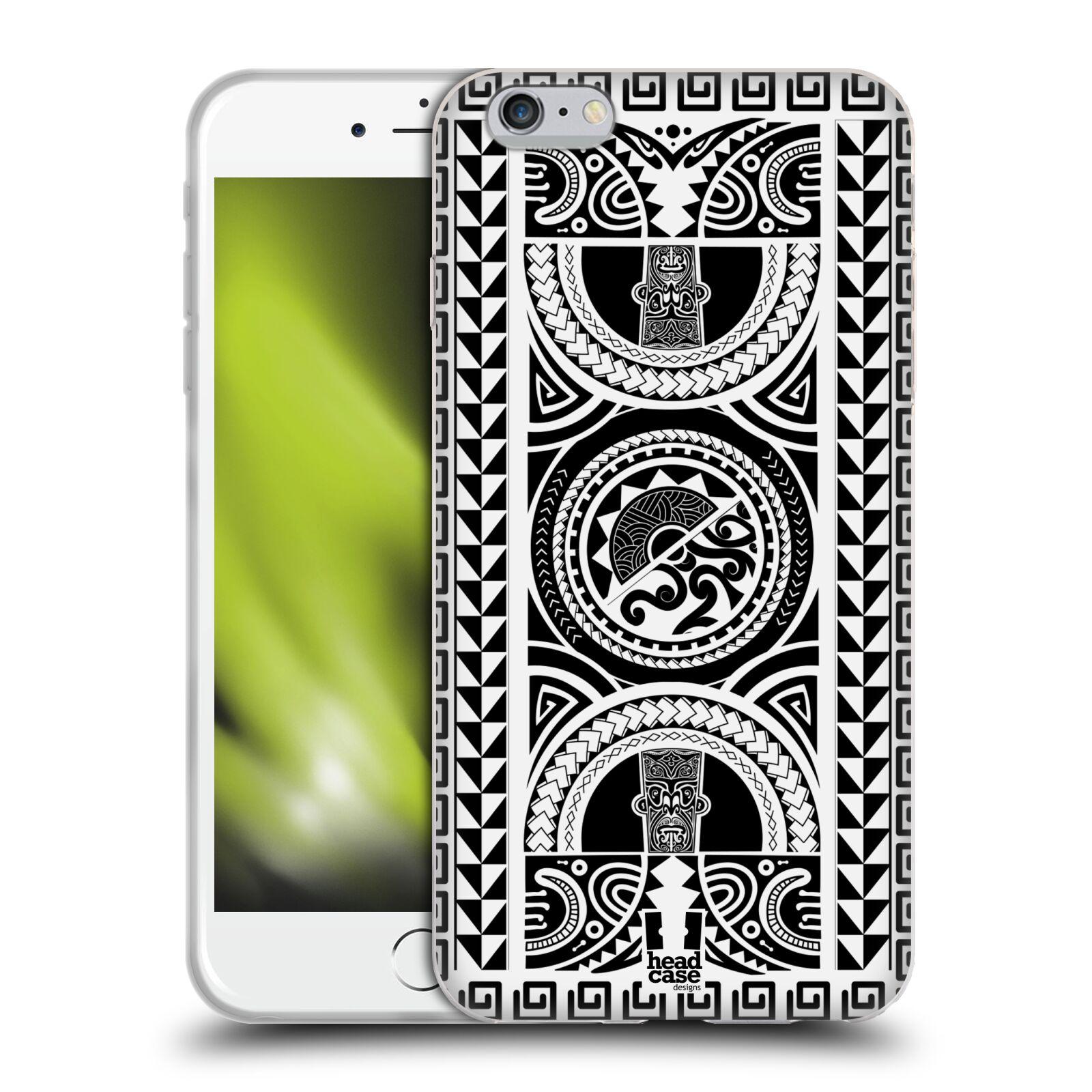 HEAD CASE silikonový obal na mobil Apple Iphone 6 PLUS/ 6S PLUS vzor Maorské tetování motivy černá a bílá KRUH