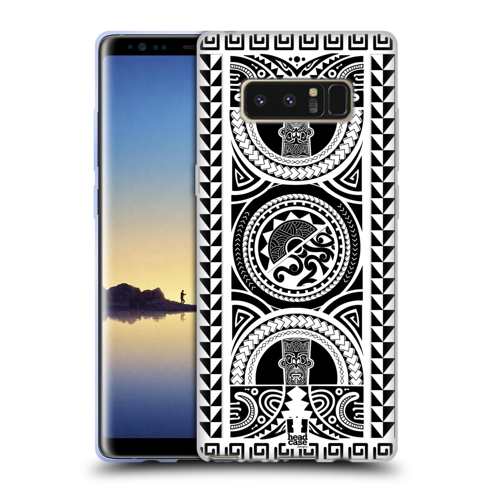 HEAD CASE silikonový obal na mobil Samsung Galaxy Note 8 vzor Maorské tetování motivy černá a bílá KRUH